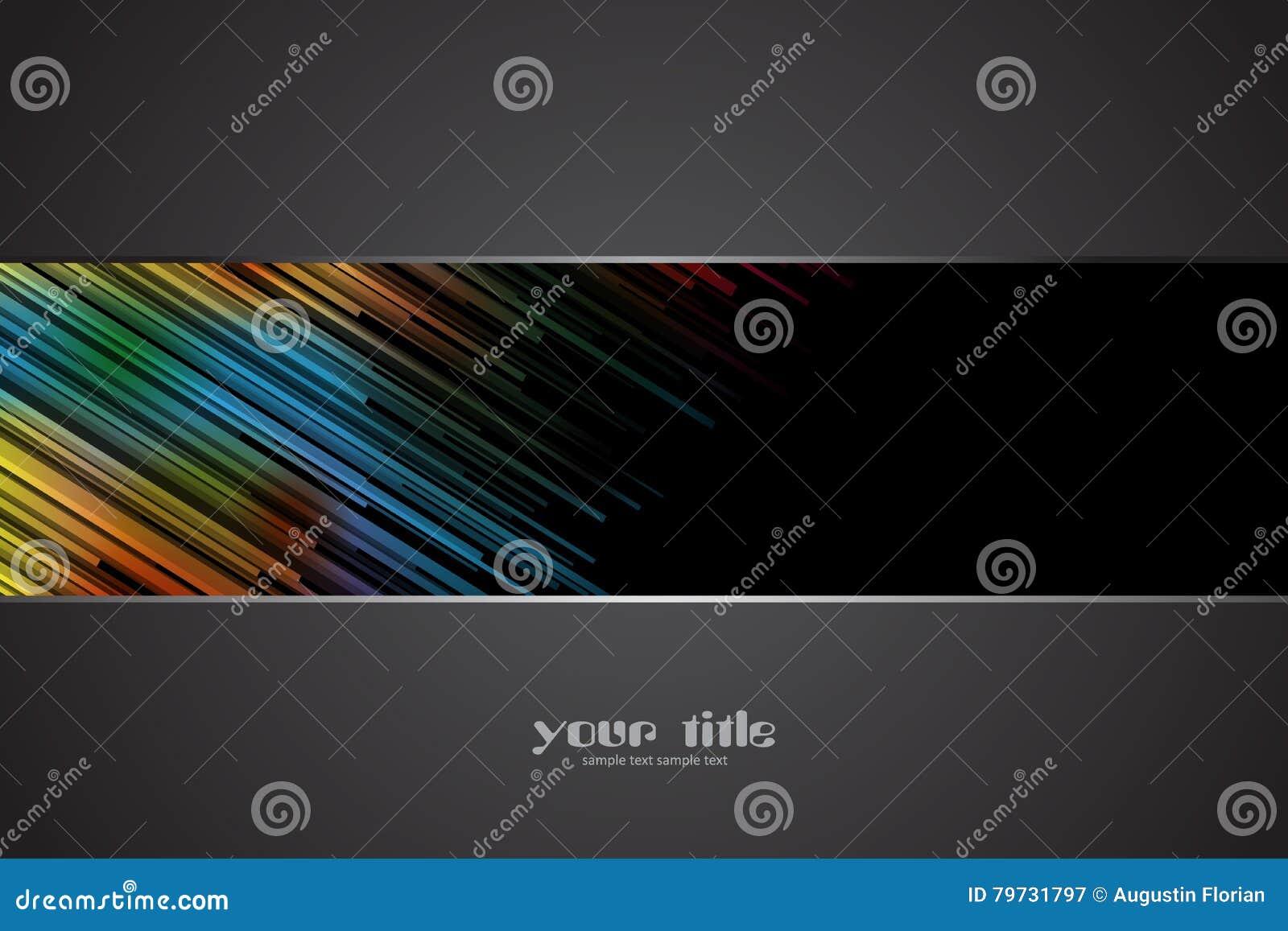 Fondo oscuro con las rayas coloreadas arco iris
