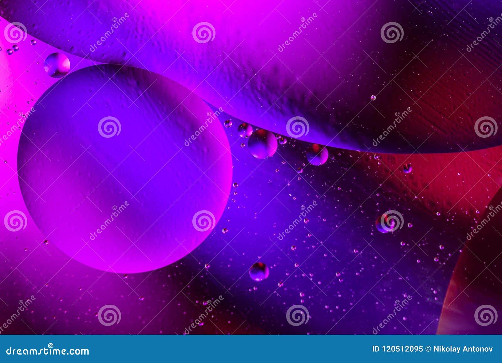 Fondo púrpura abstracto cósmico del universo del espacio o de los planetas Sctructure abstracto del átomo de la molécula Burbujas
