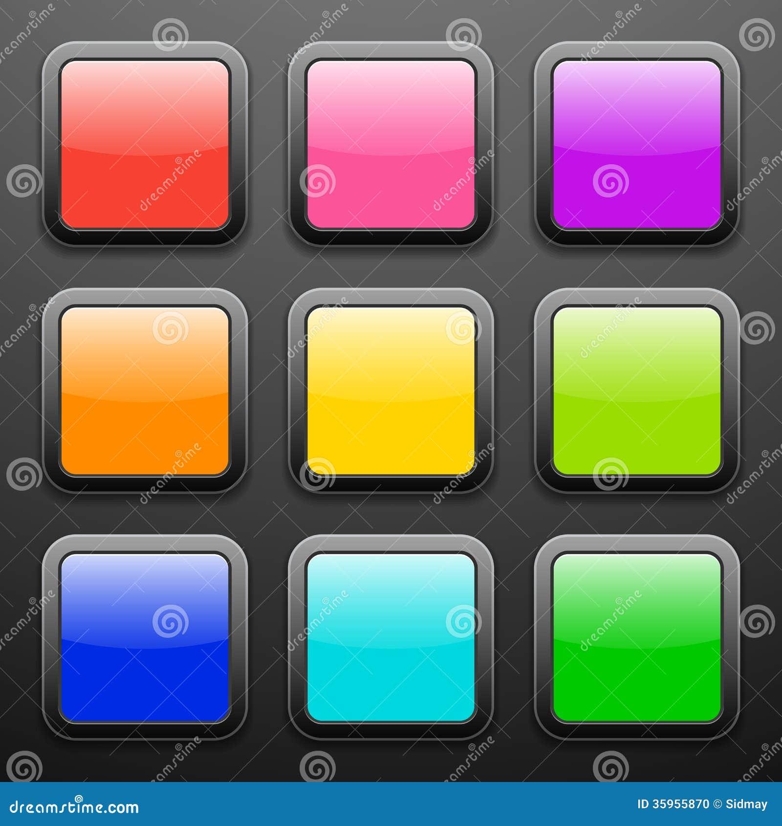 Fondo para los iconos del app - sistema del vidrio