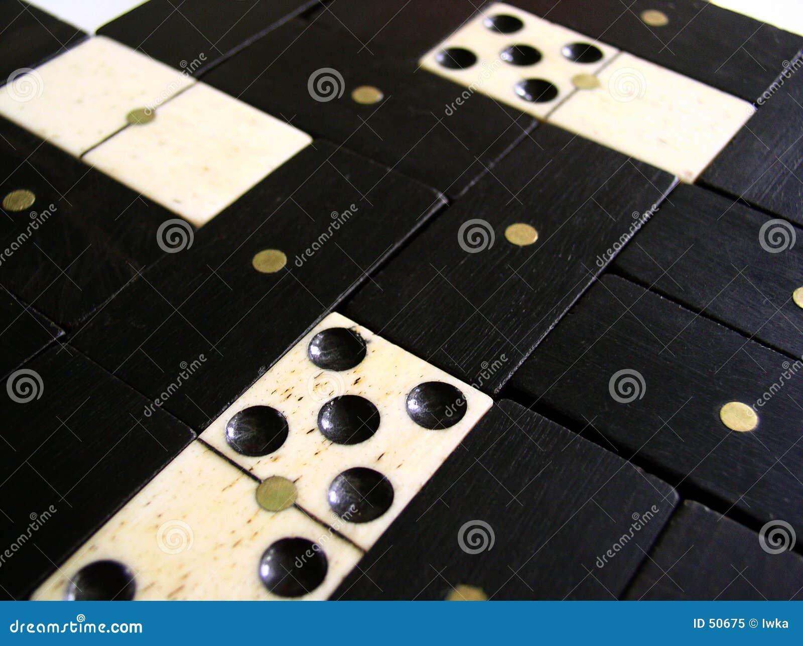 Fondo - pedazos del dominó