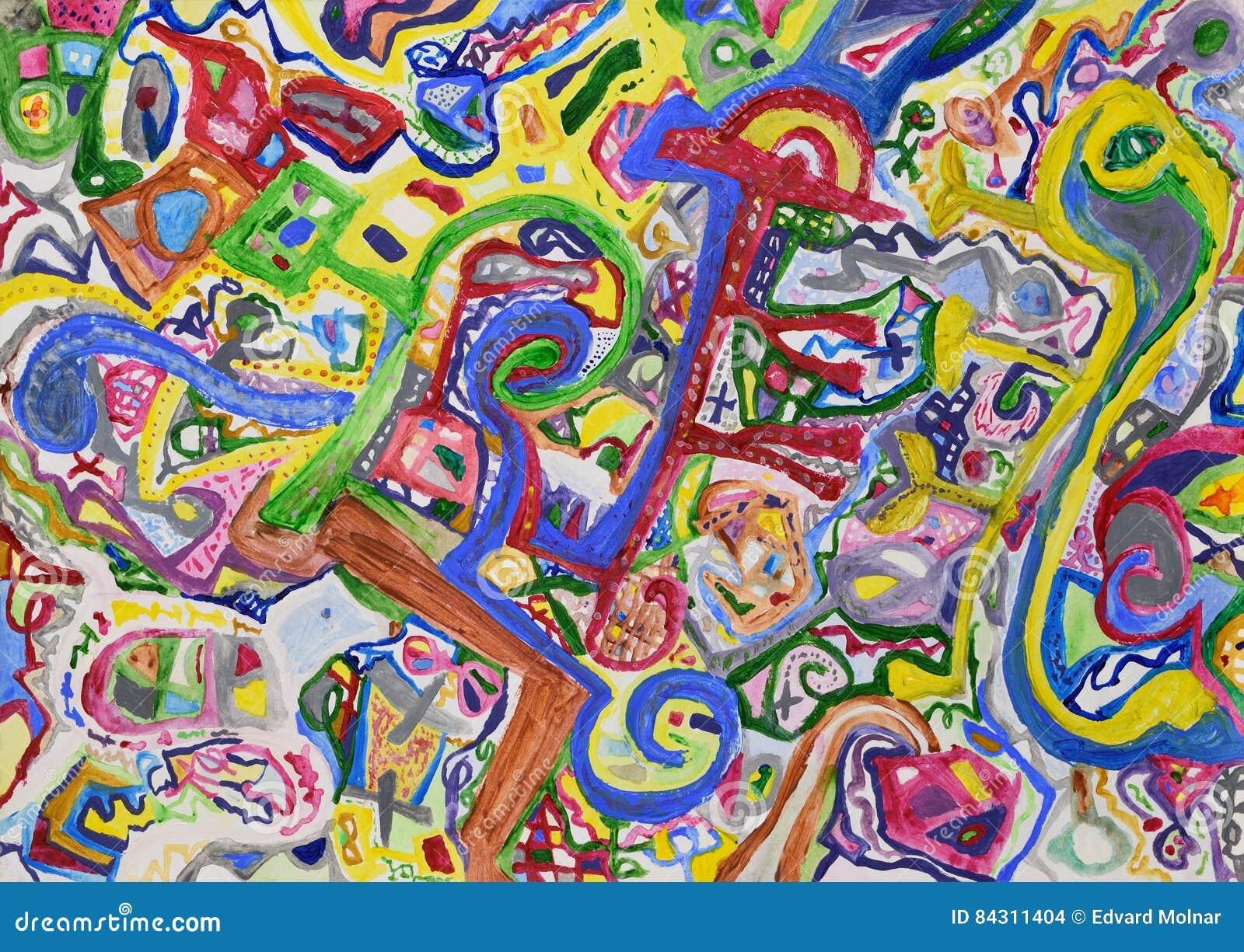 Fondo pintado a mano colorido extranjero abstracto