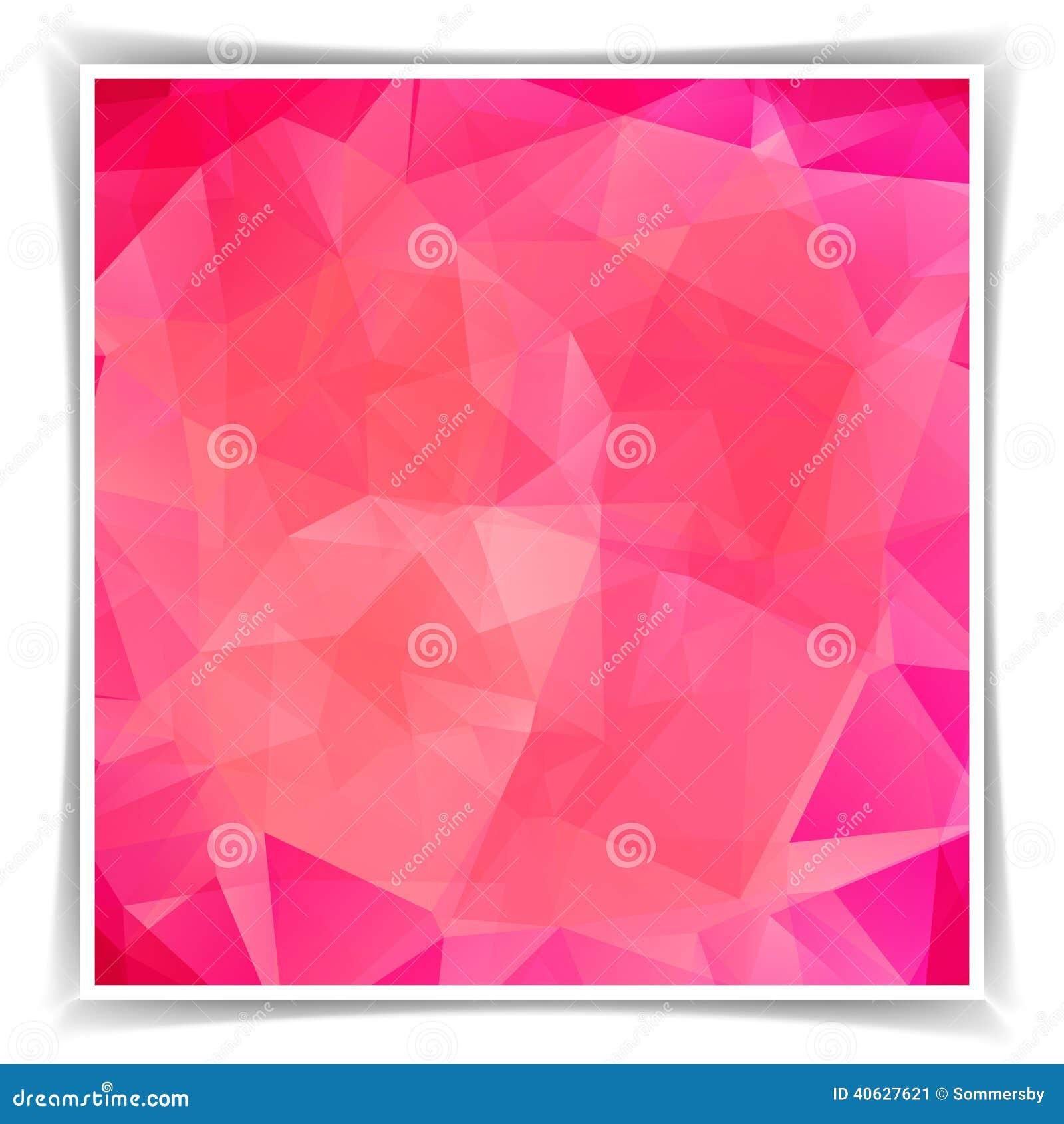 Fondo poligonal del triángulo rosado abstracto