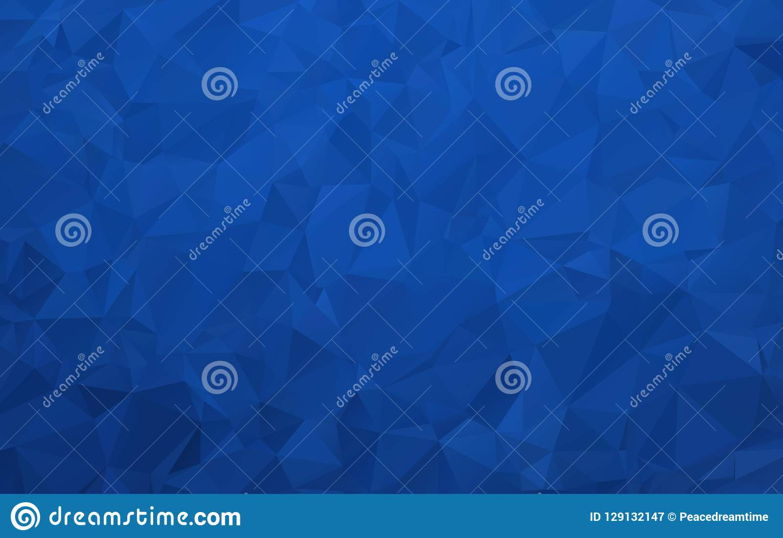 Fondo poligonale blu scuro astratto con effetto della luce della sovrapposizione per il cellulare ed il web design