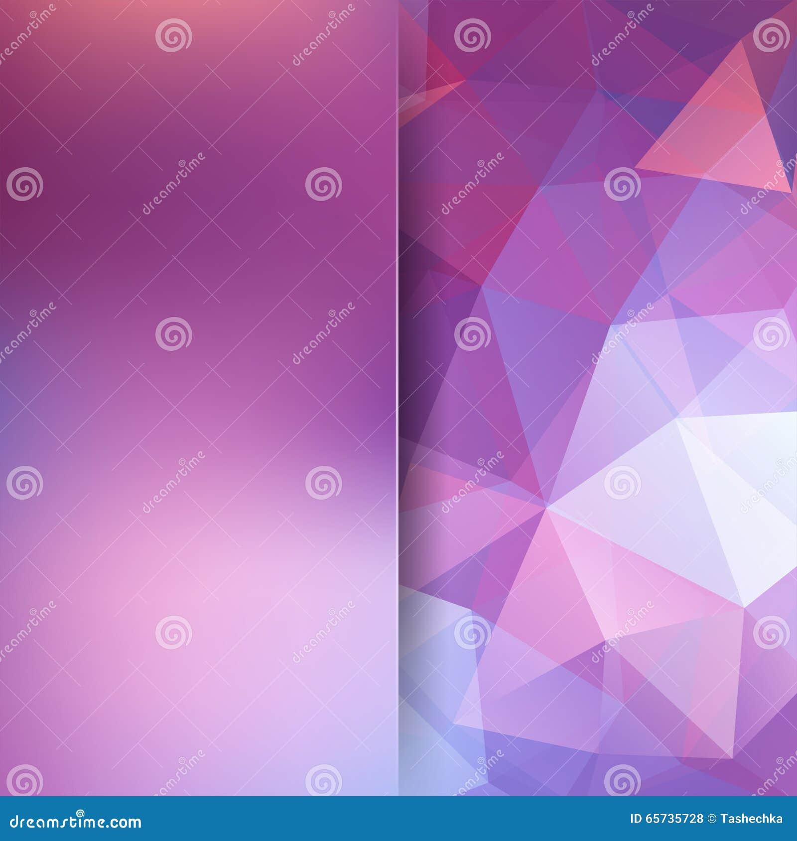 Fondo poligonale di vettore Colori rosa, bianchi, porpora