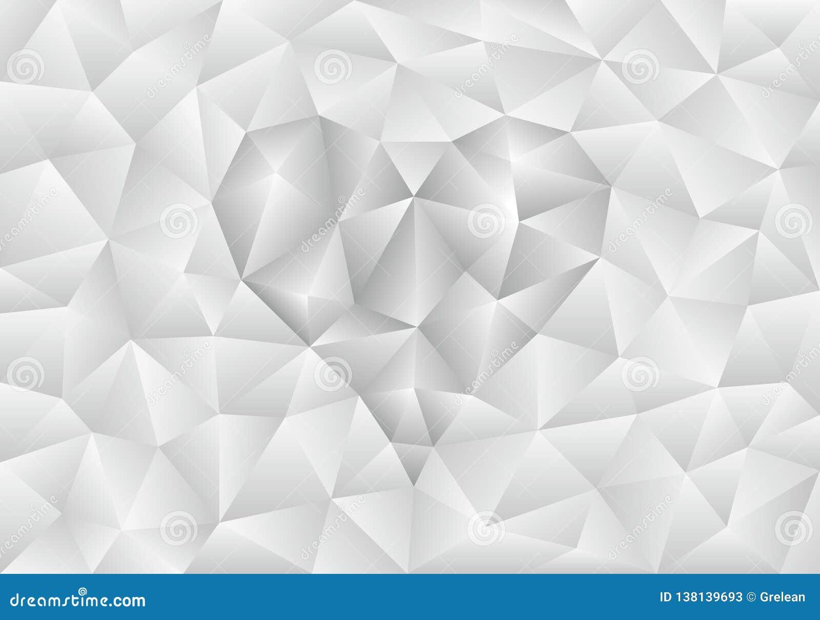 Fondo poligonale grigio chiaro dell estratto con forma del cuore