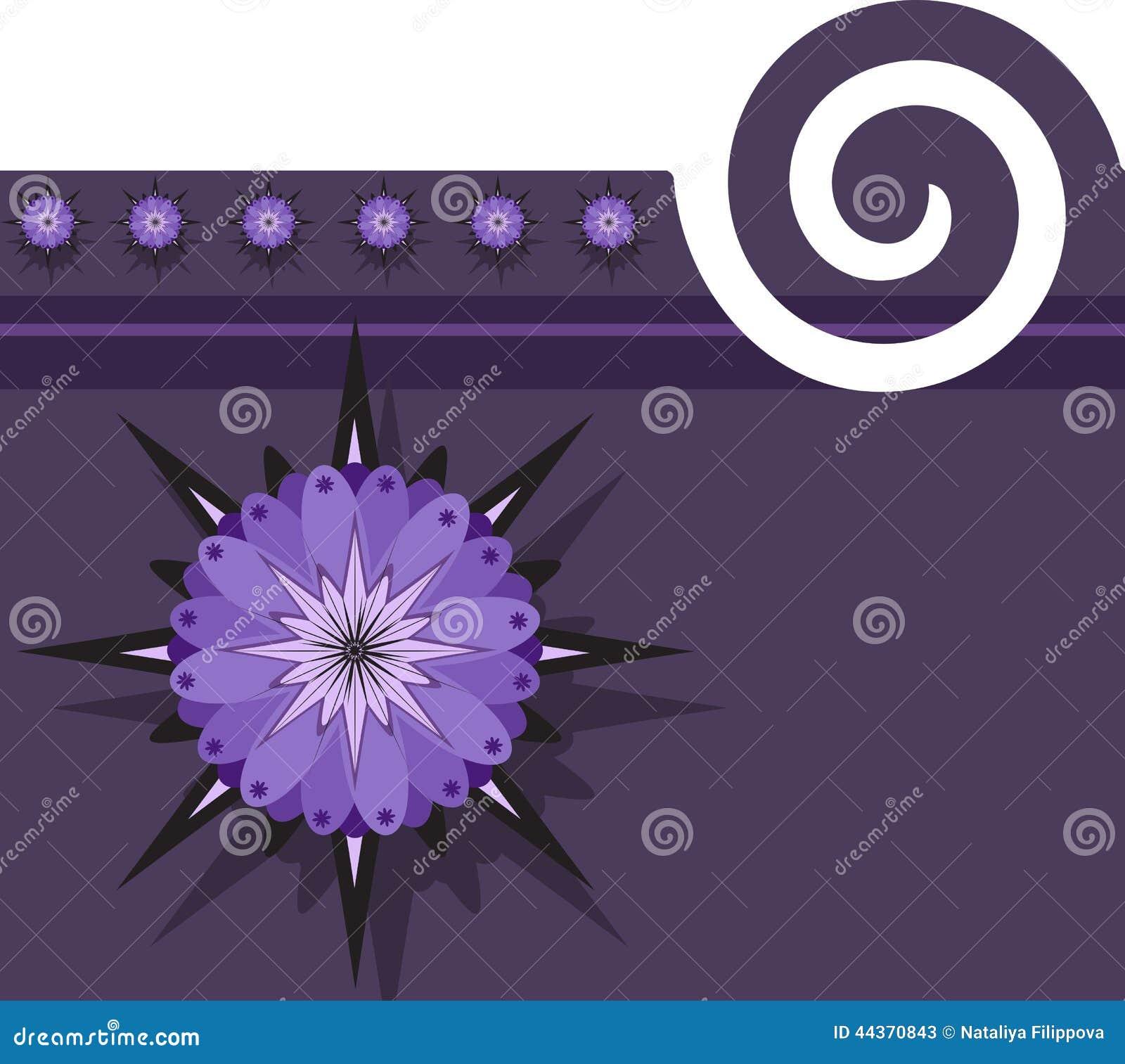 Fondo porpora con progettazione floreale