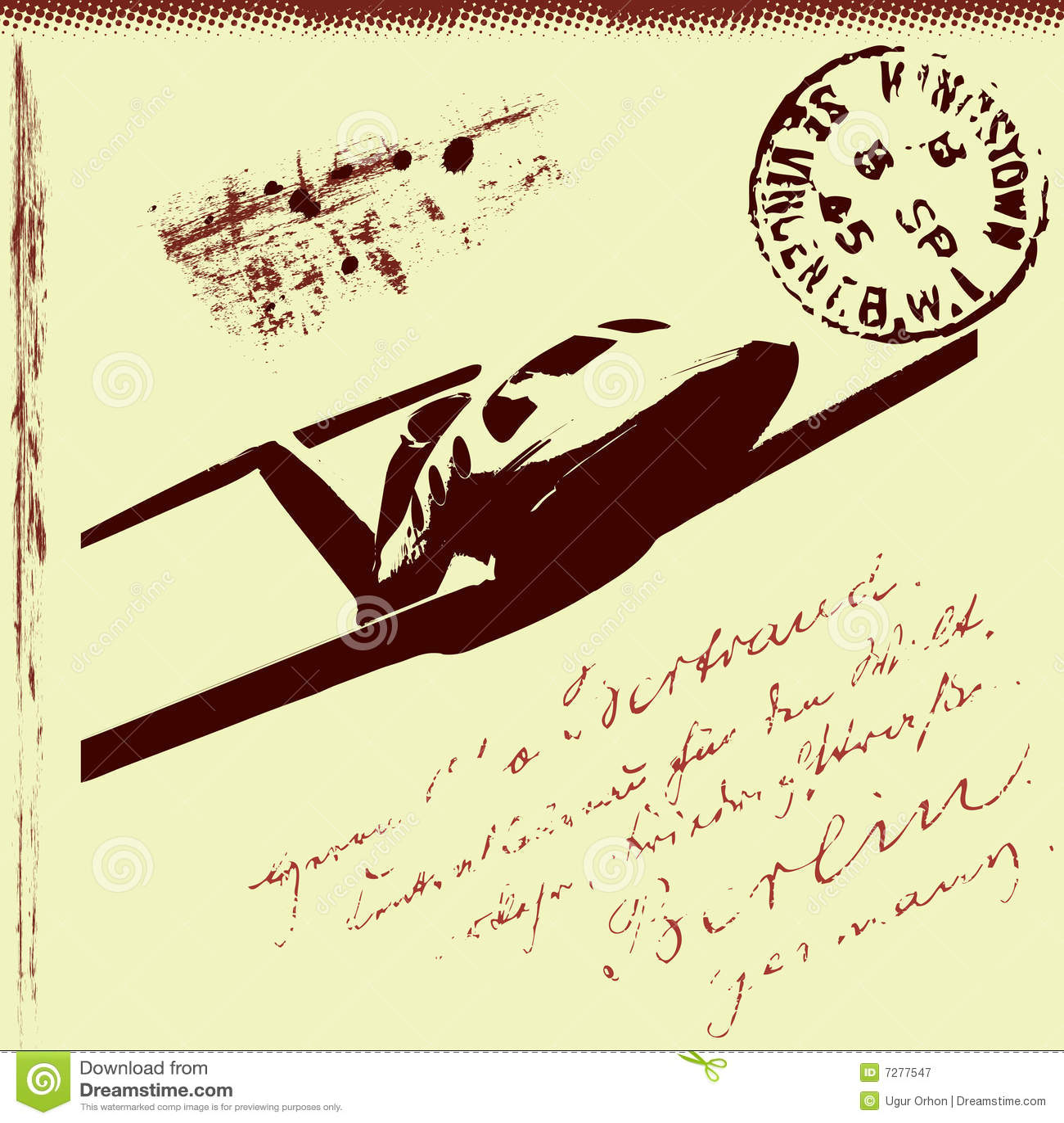 Fondo postal abstracto