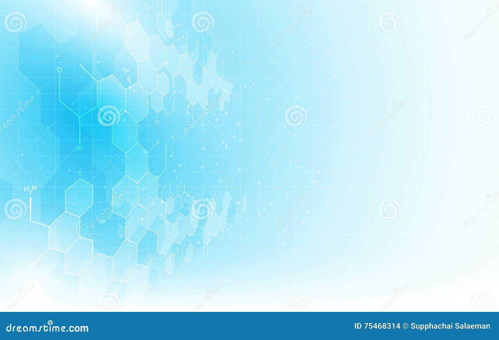 Fondo pulito di concetto di progettazione della struttura di chimica di formula del modello di struttura di scienza astratta