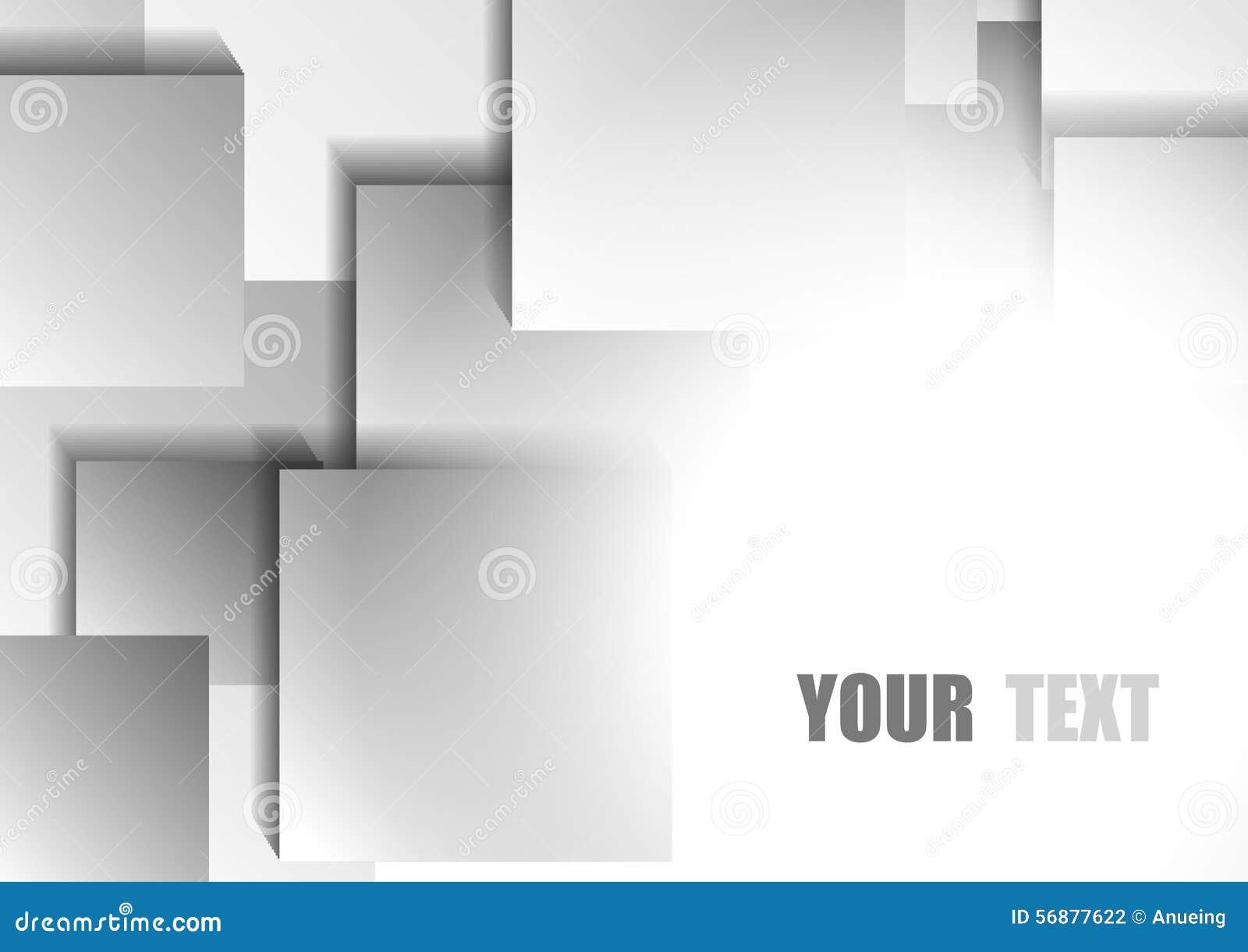 Fondo quadrato bianco e grigio astratto
