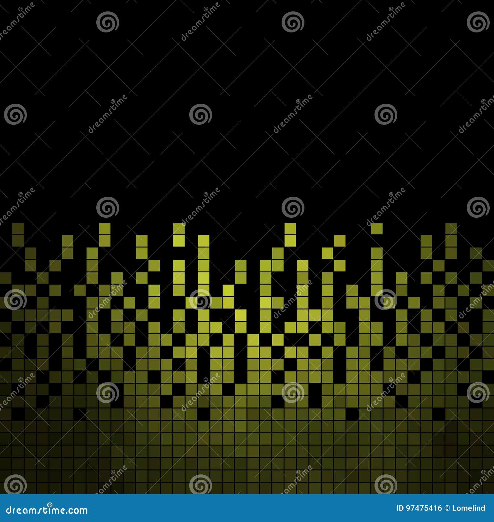 Fondo quadrato del mosaico del pixel di vettore