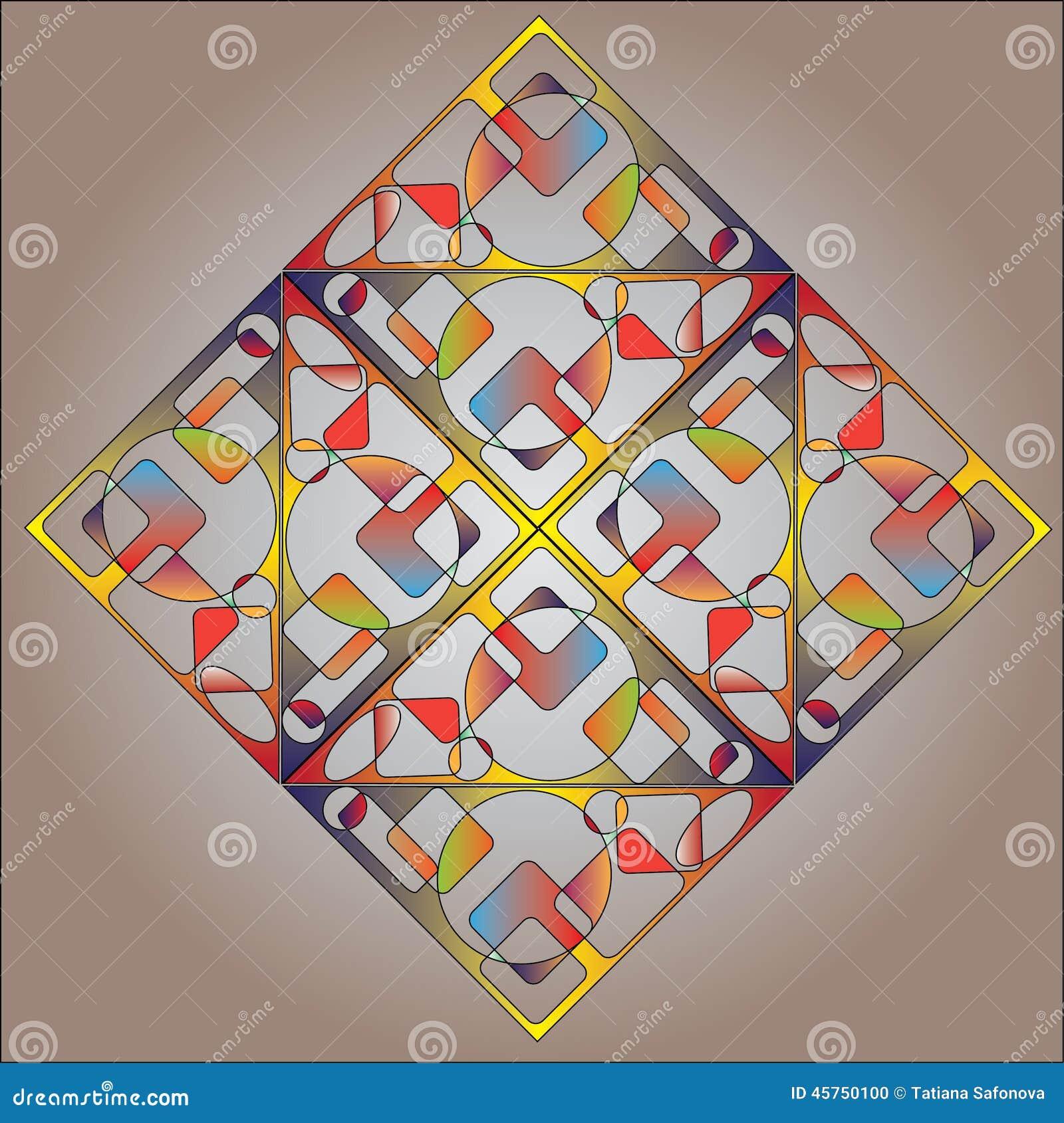 Fondo quadrato multicolore astratto