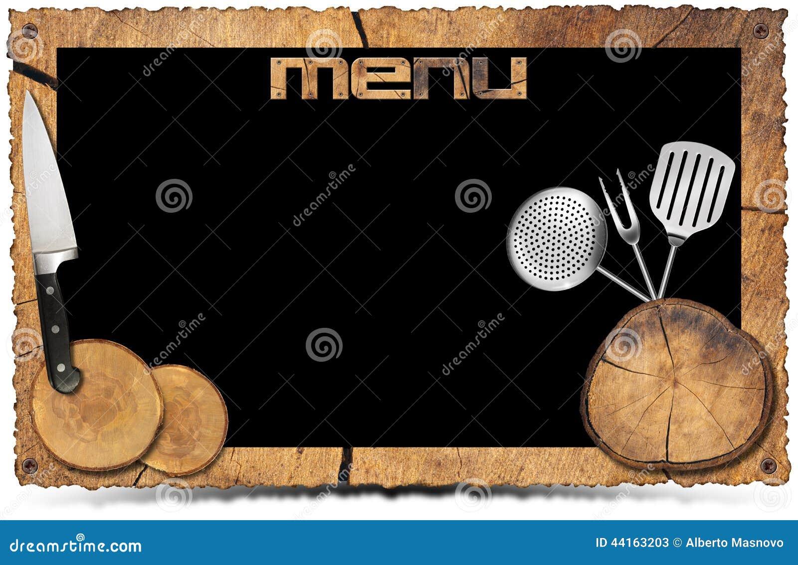Fondo Rústico Del Menú - Marco De La Foto Stock de ilustración ...