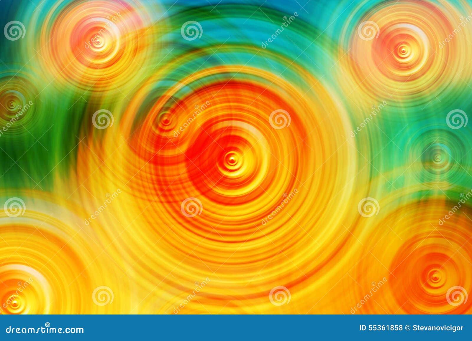 Fondo radiale variopinto astratto della sfuocatura