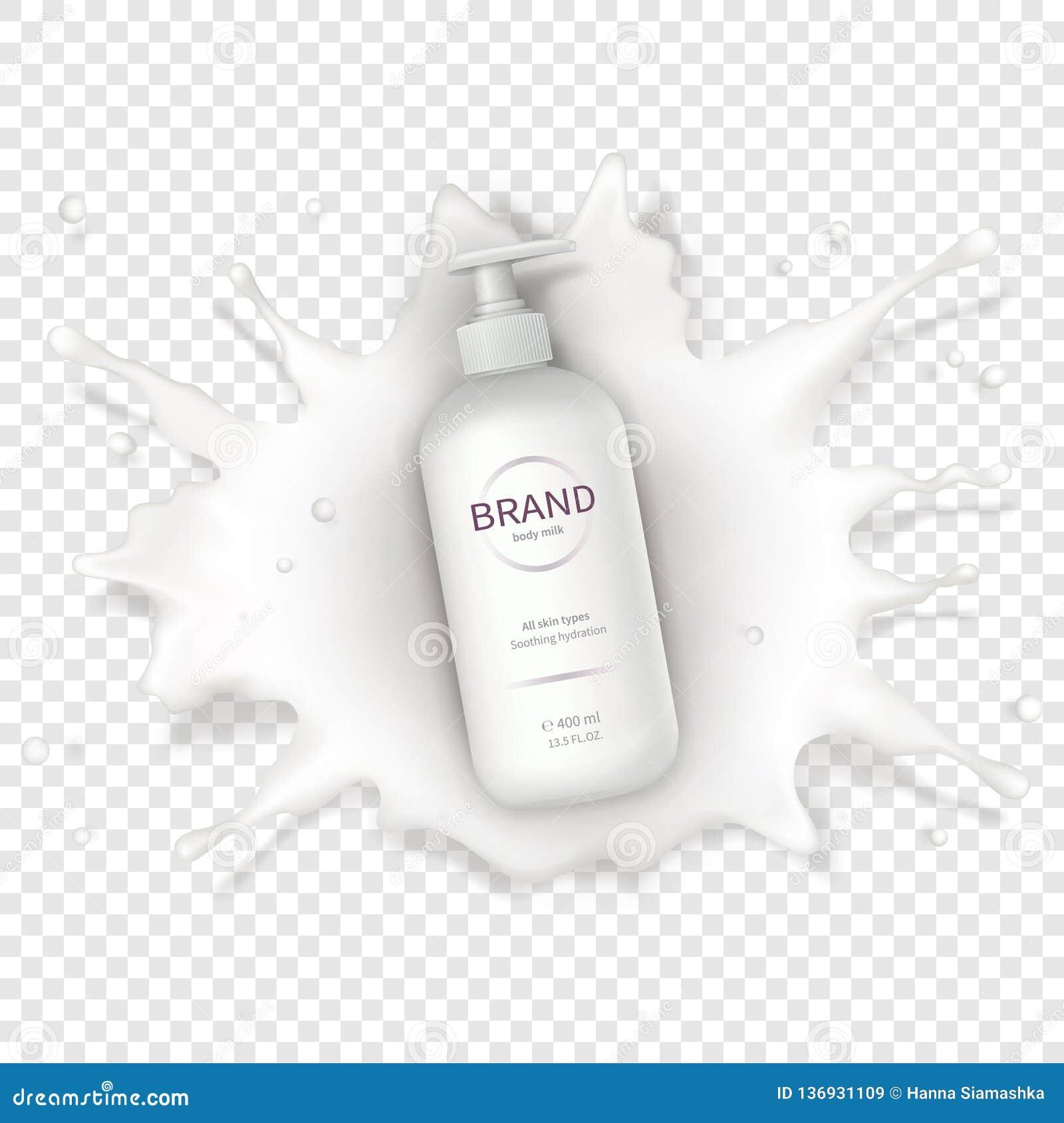 Fondo realista cosmético del vector con crema