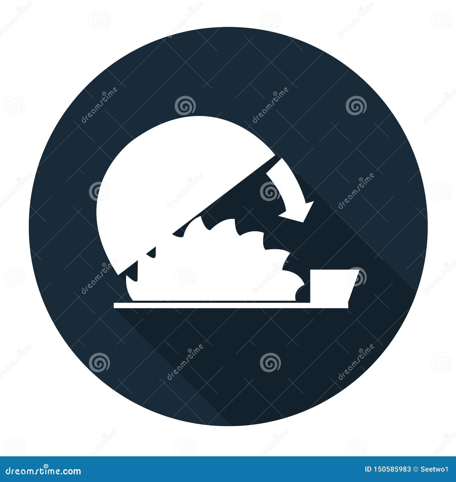 Fondo regolabile di Isolate On White della guardia di uso di simbolo, illustrazione di vettore