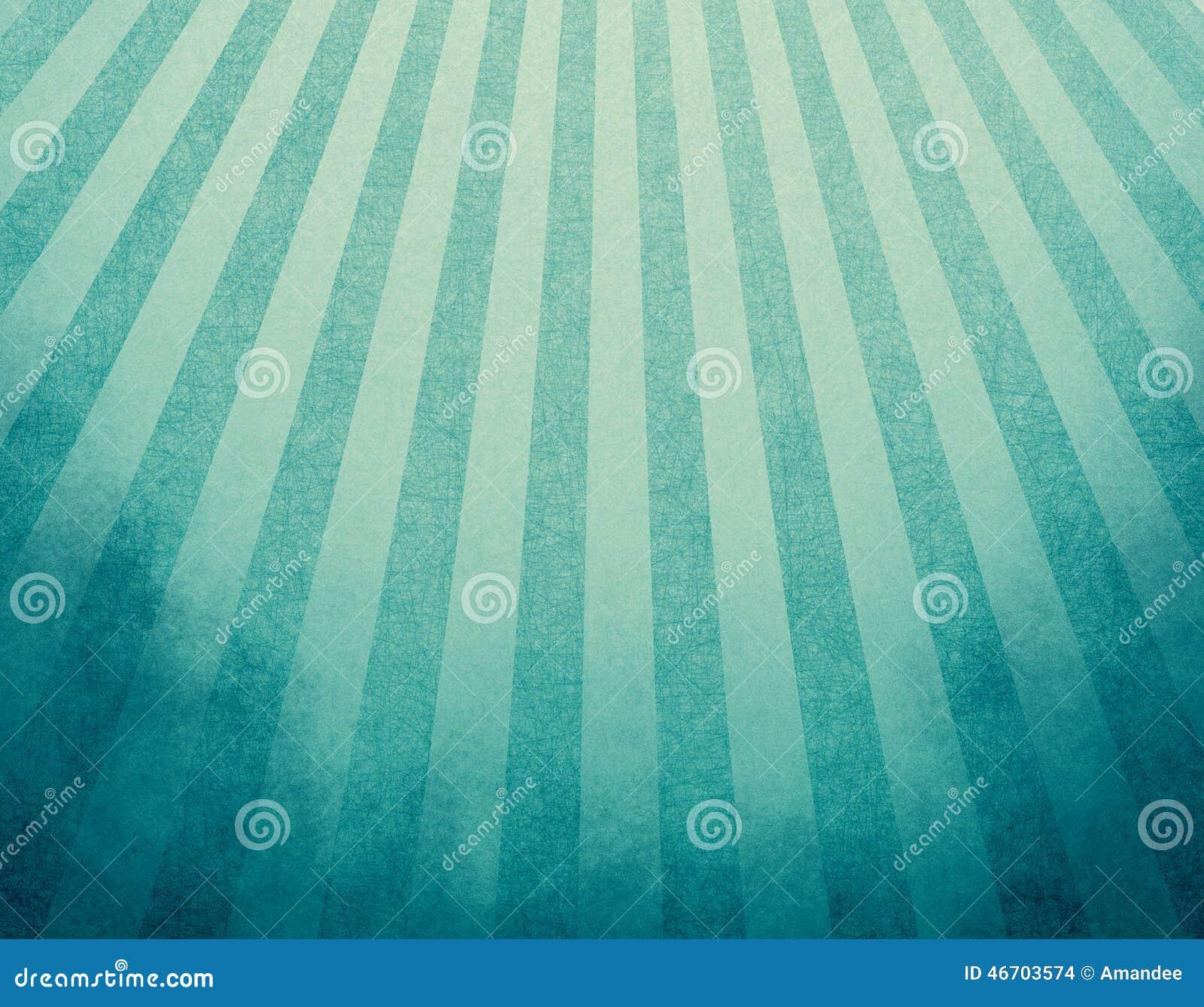 Fondo retro azul amarilleado con las fronteras descoloradas del grunge y efecto del resplandor solar de las rayas o diseño suavem