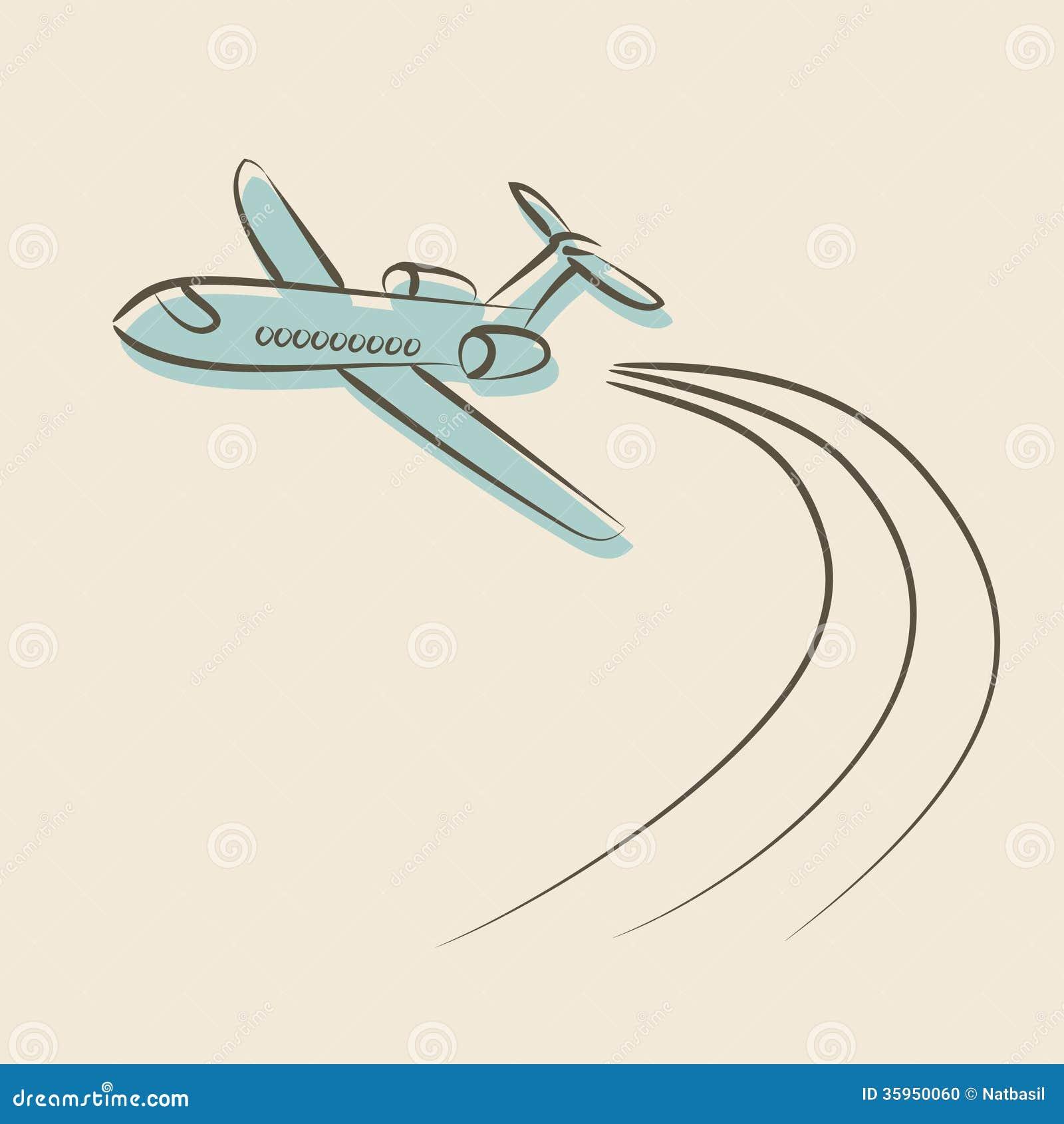 Fondo retro con el avión