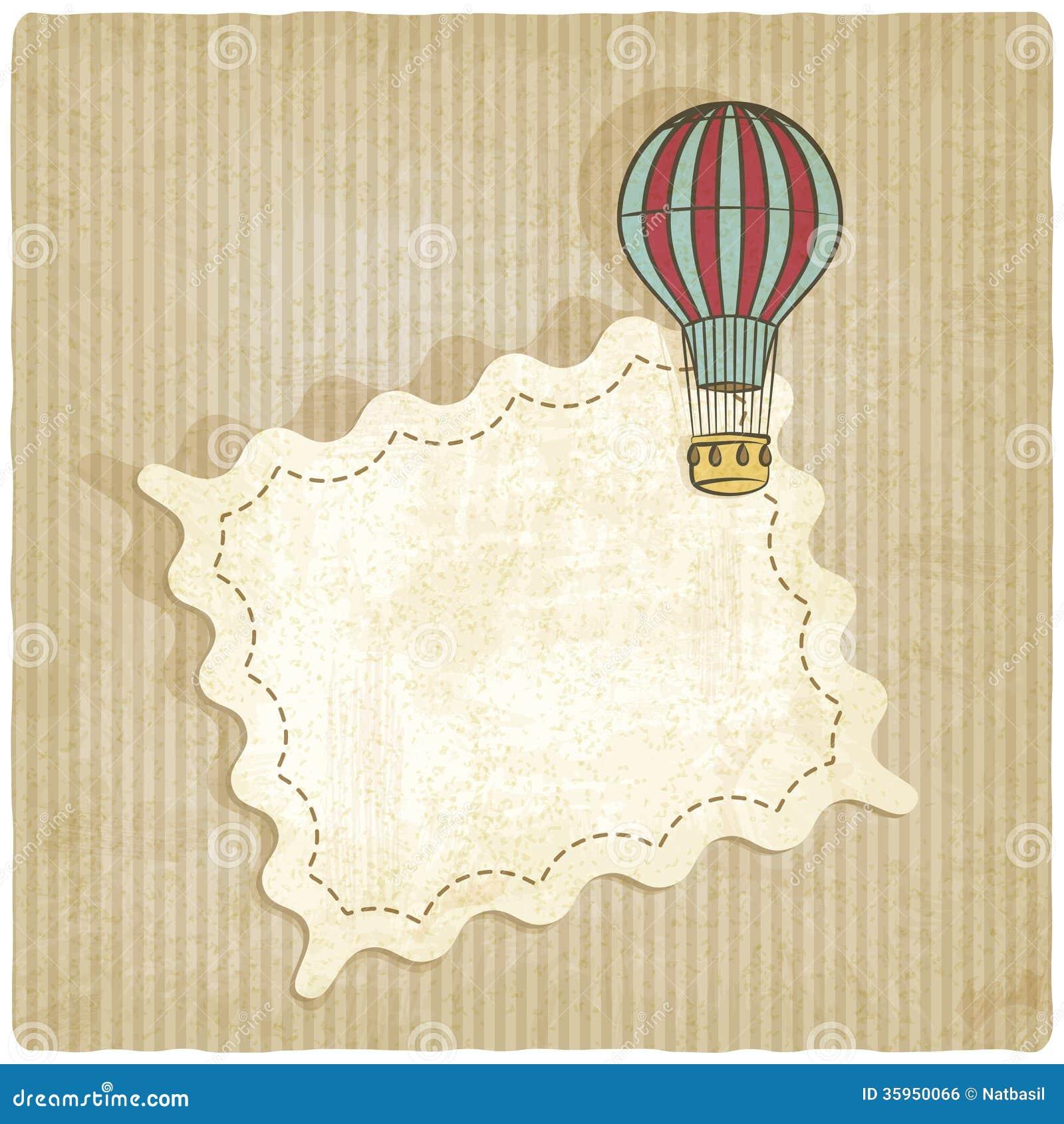 Fondo retro con el balón de aire