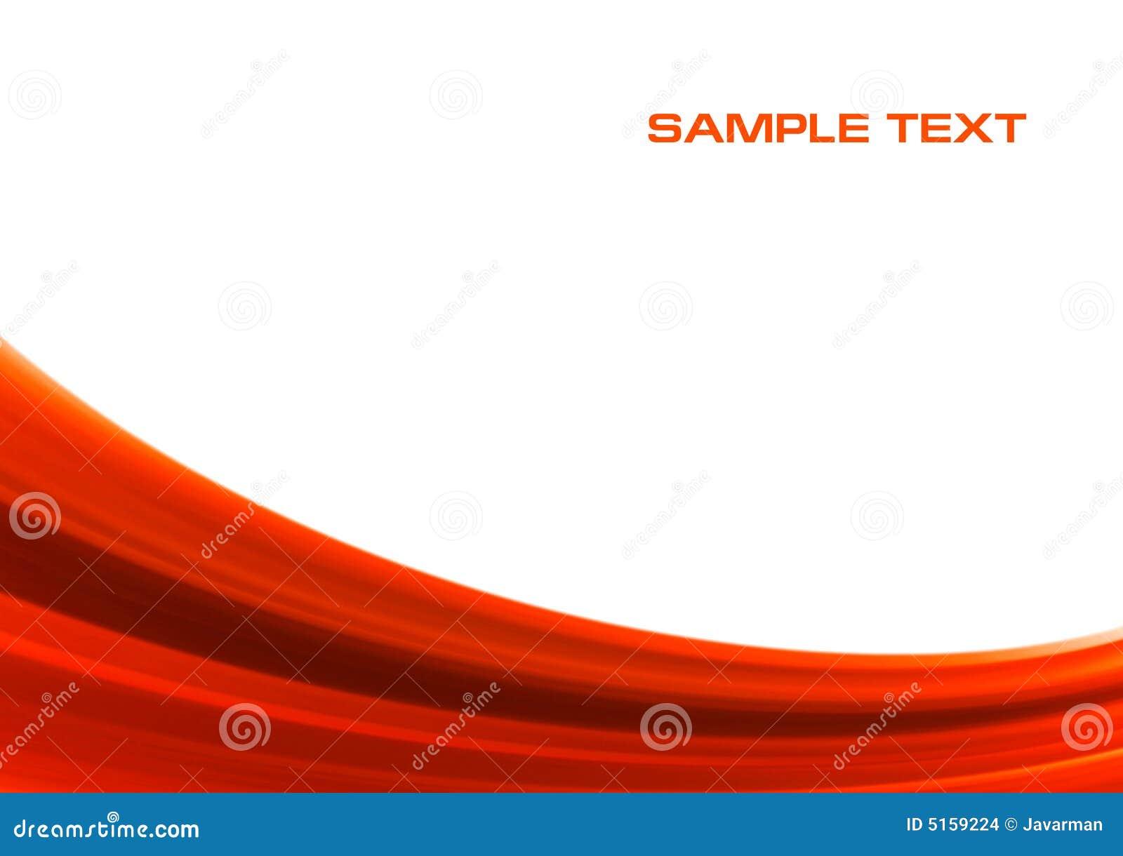 Fondo rojo abstracto de la onda