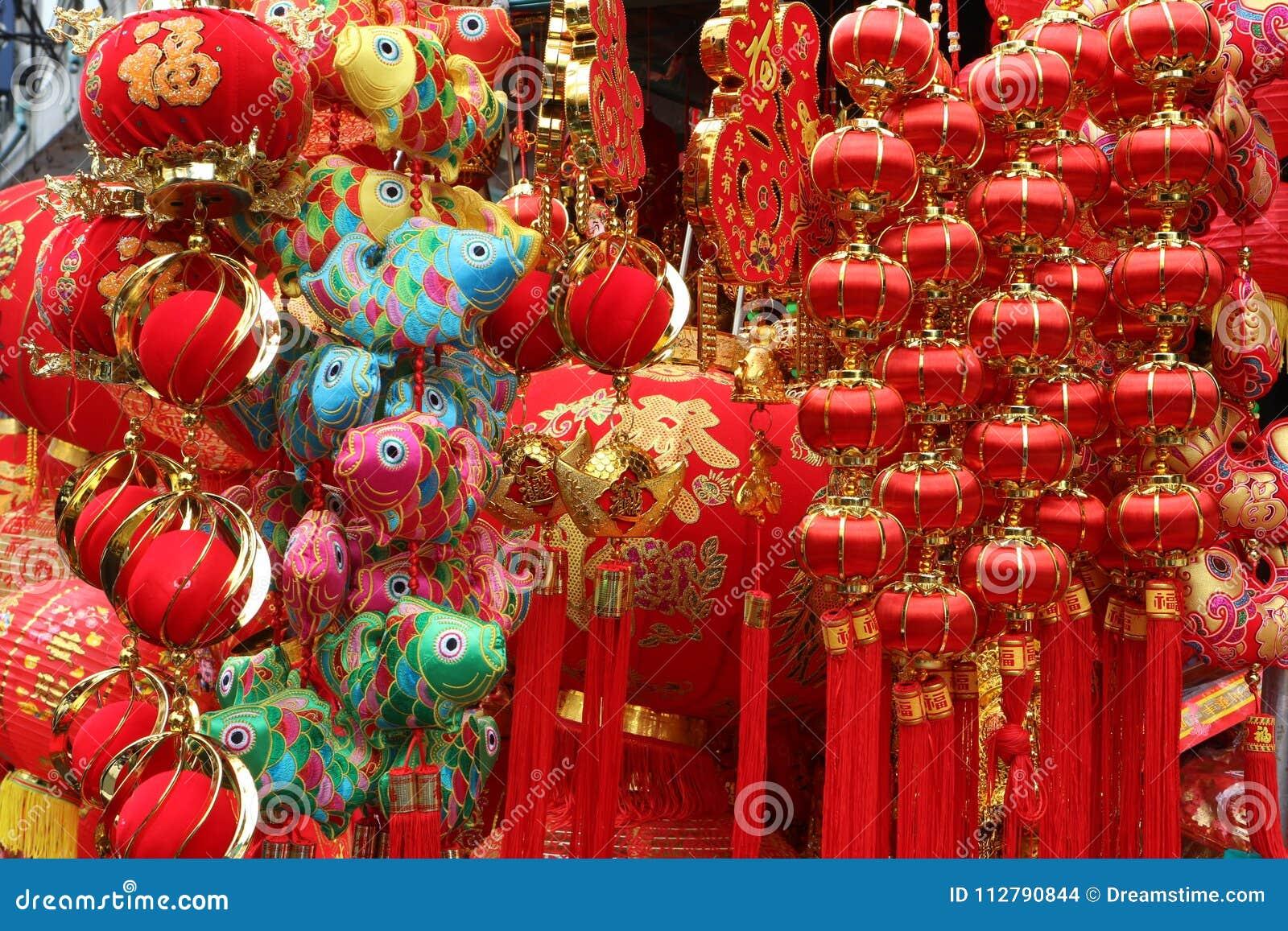 Fondo rojo chino de la linterna en festival chino del Año Nuevo La palabra significa los buenos días, festival de primavera, hace