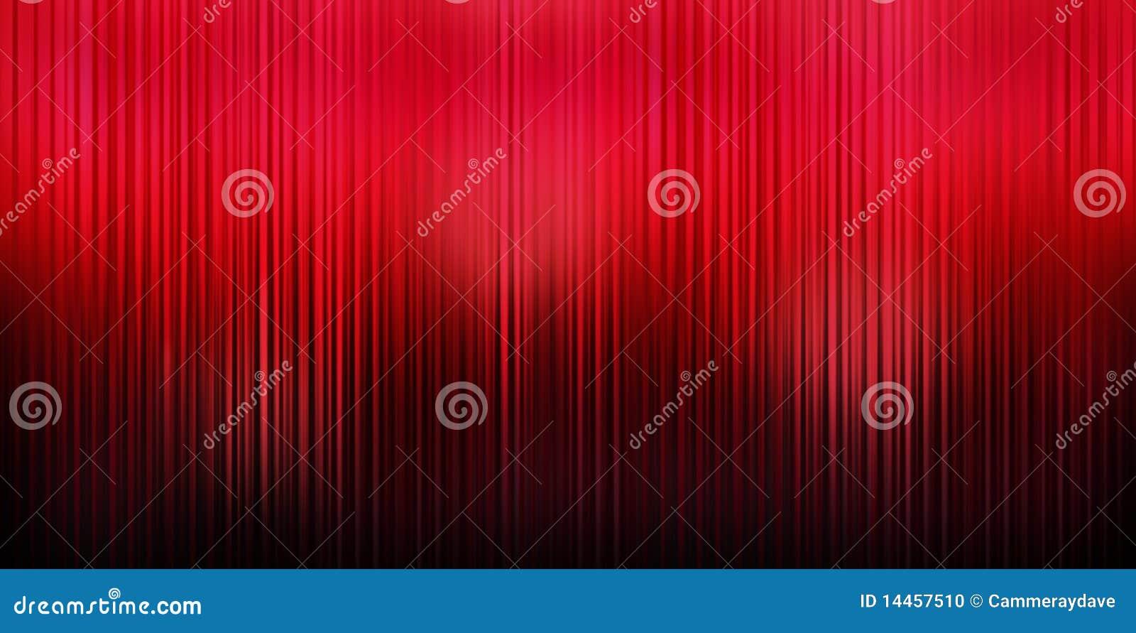 Fondo rojo de la cortina
