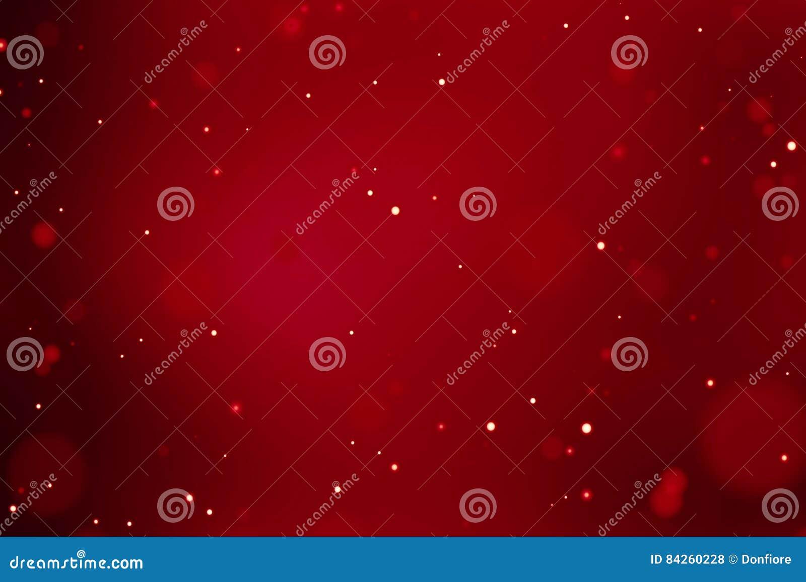Fondo rojo de la pendiente abstracta de la Navidad con el bokeh que fluye, Feliz Año Nuevo del día de fiesta festivo