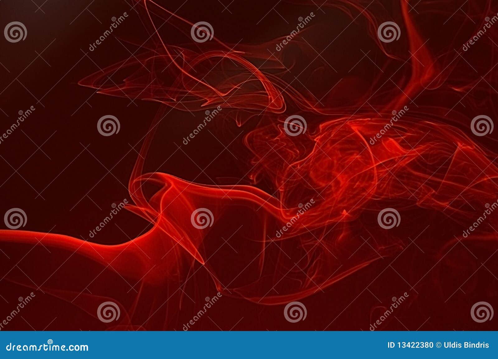 Fondo rojo del extracto del humo