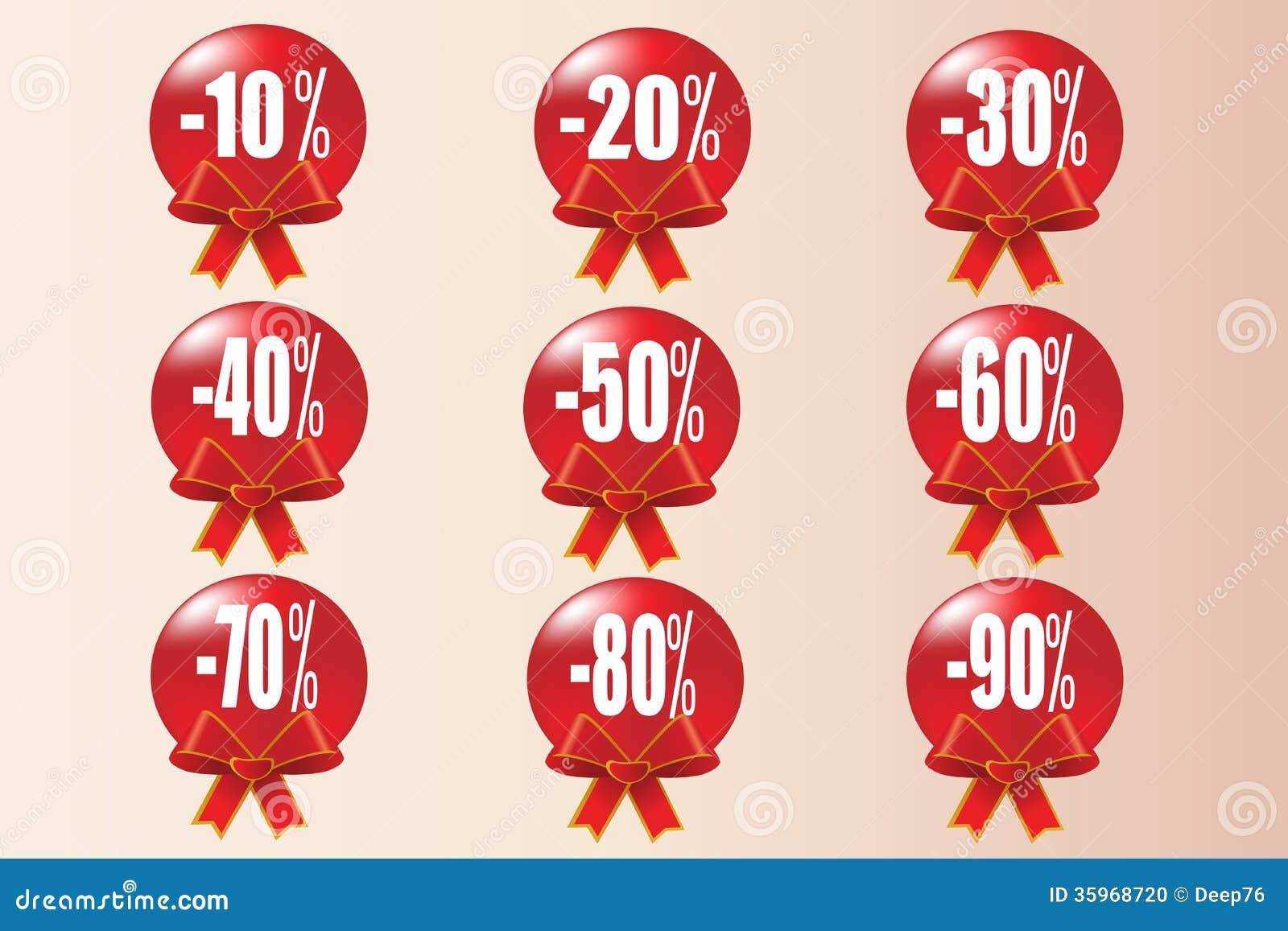 Fondo rojo del icono de la venta de la Navidad