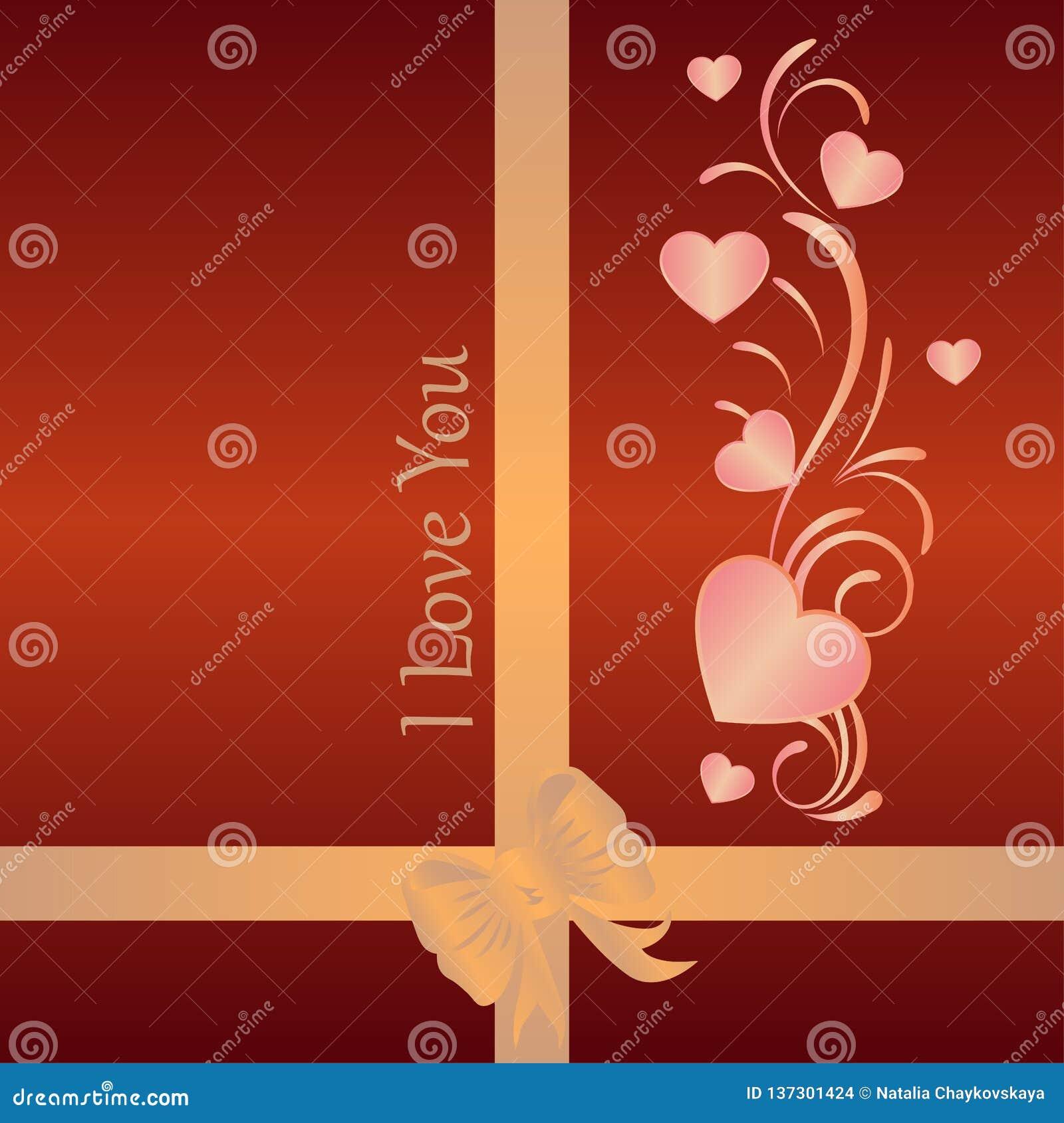 Fondo romántico con los corazones en cajas del caramelo