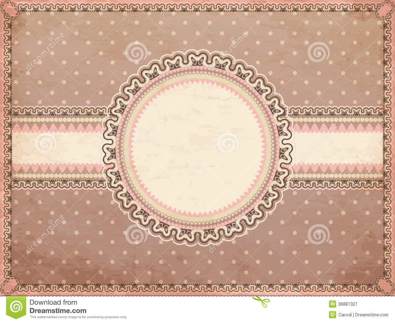 Download Fondo romantico d'annata illustrazione vettoriale. Illustrazione di background - 36887327