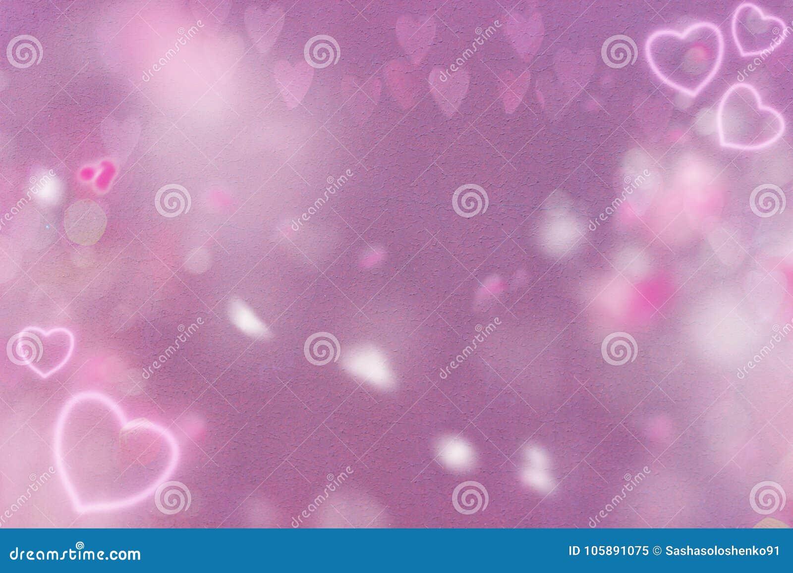 Fondo rosa astratto con i cuori