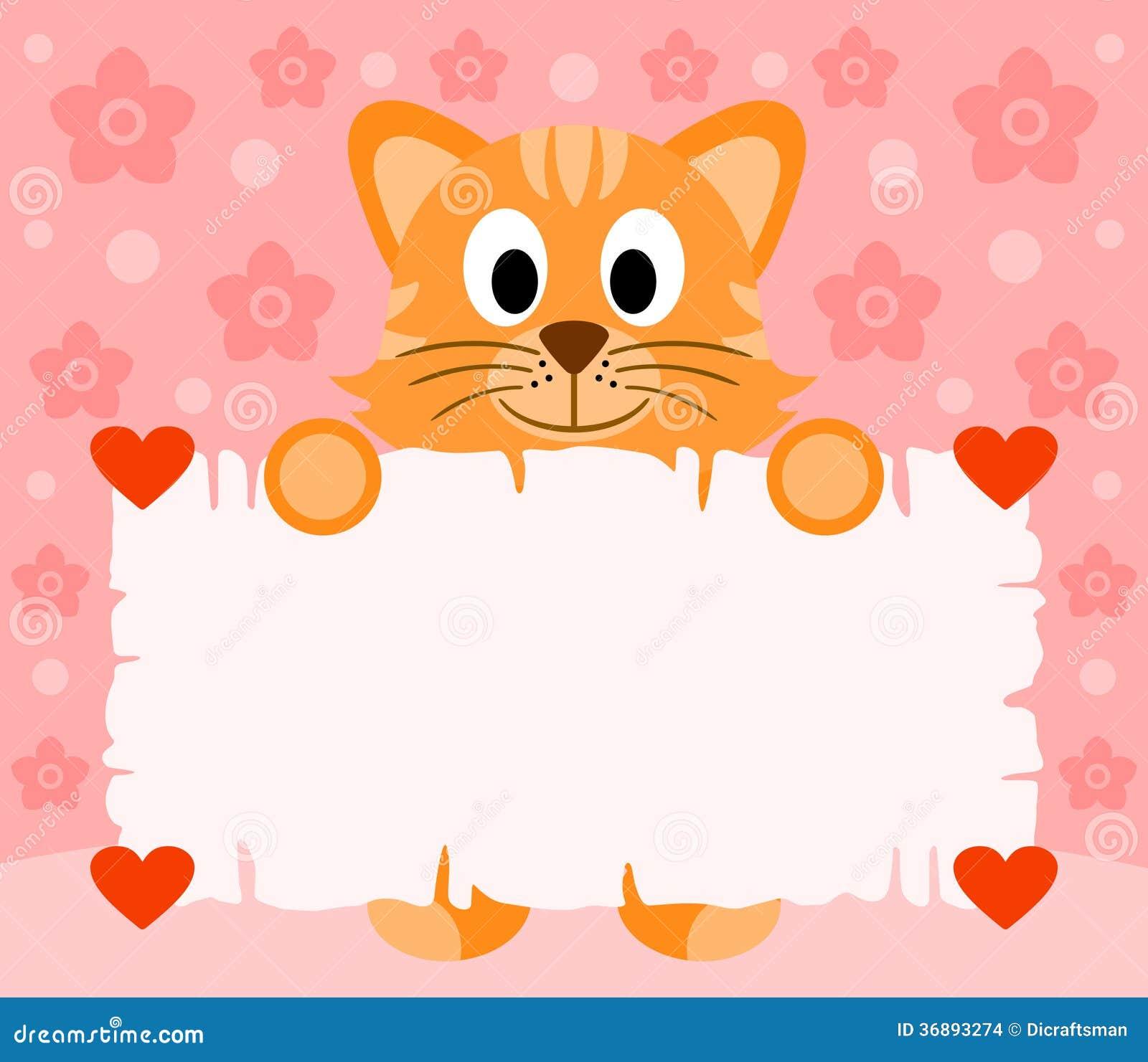 Download Fondo Rosa Di Giorno Di Biglietti Di S. Valentino Con Il Gatto Illustrazione Vettoriale - Illustrazione di celebrazione, telaio: 36893274