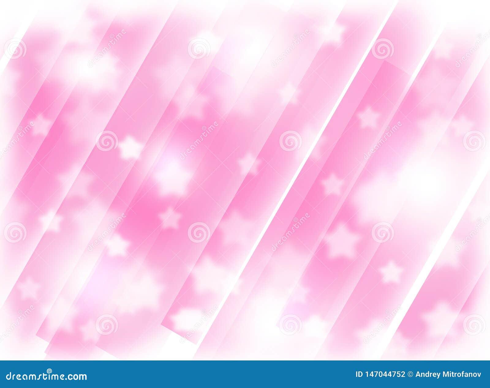 Fondo rosa vago con le stelle Astrazione Tema di natale