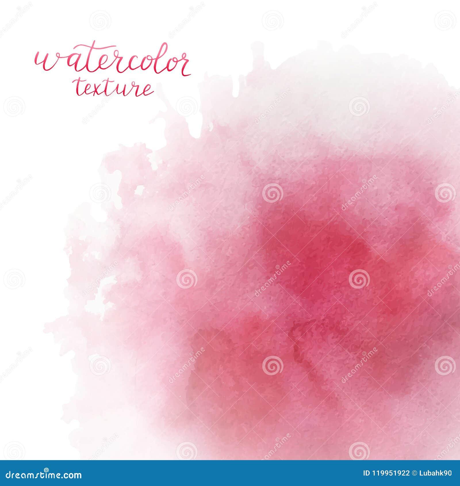 Fondo rosado de la acuarela con el espacio para el texto Chapoteo de la acuarela Textura dibujada mano del watercolour para casar