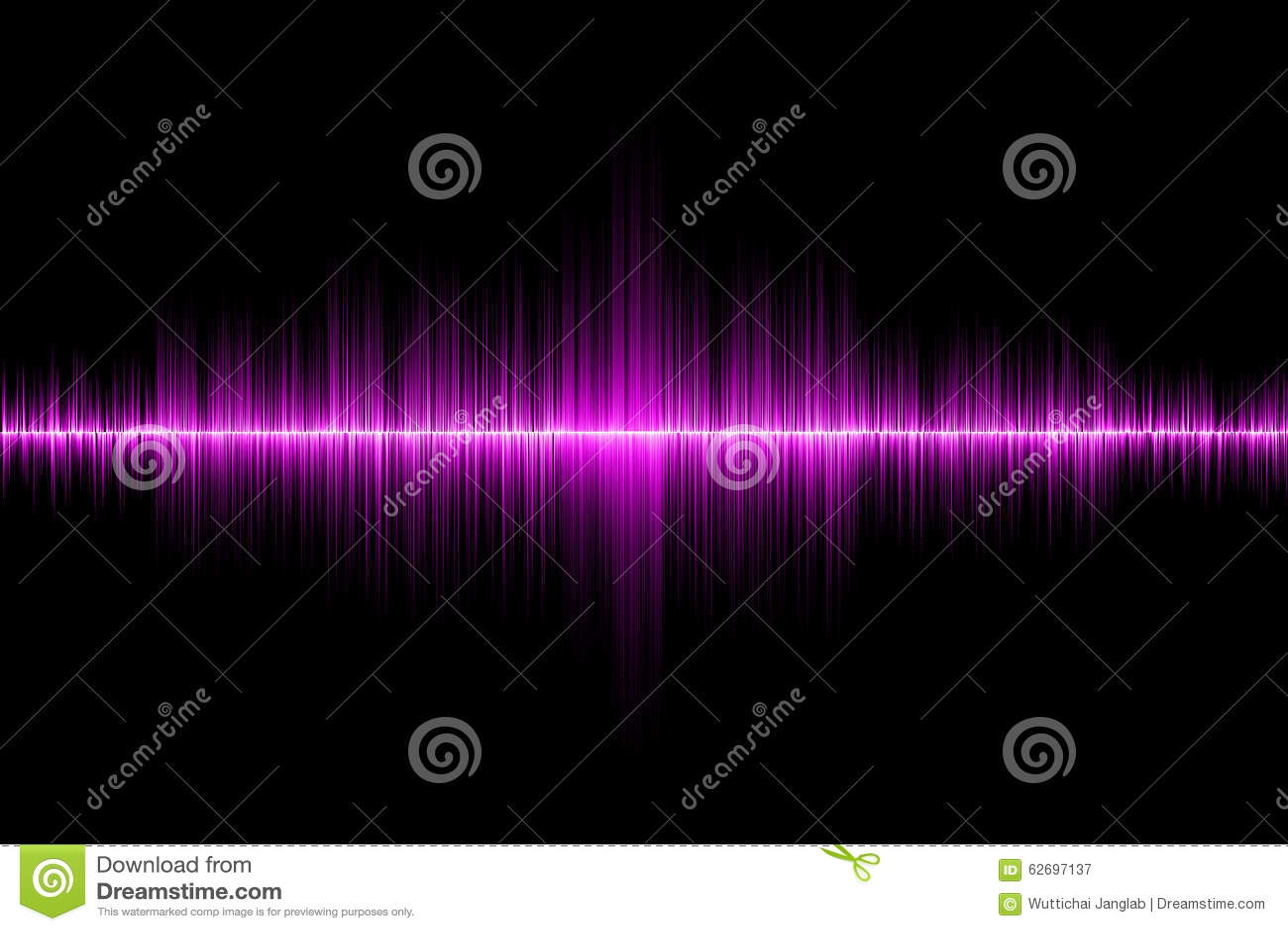 Fondo rosado de la onda acústica