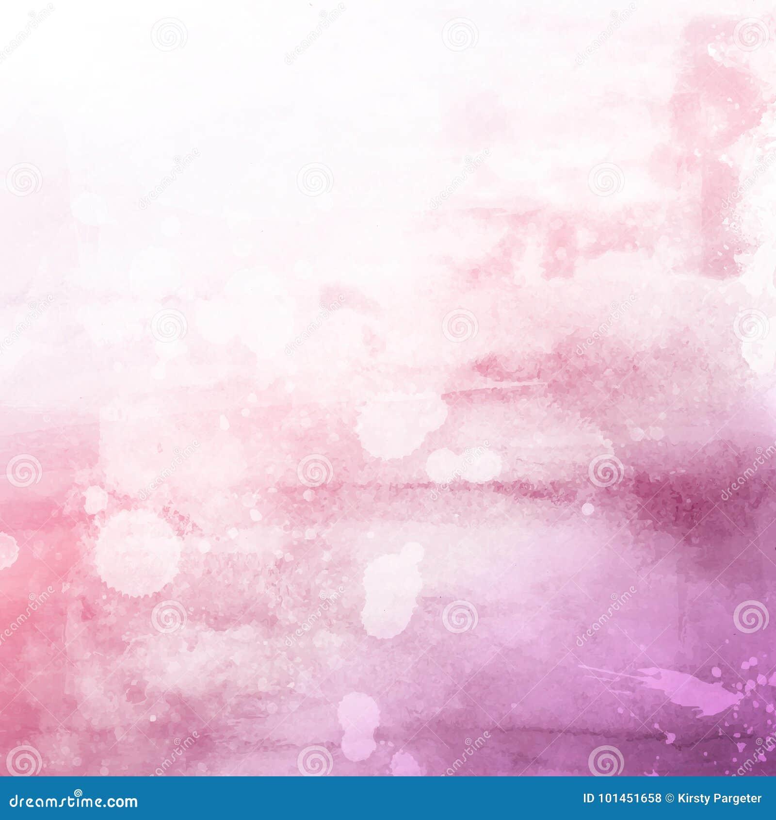 Fondo rosado de la textura del watercolour