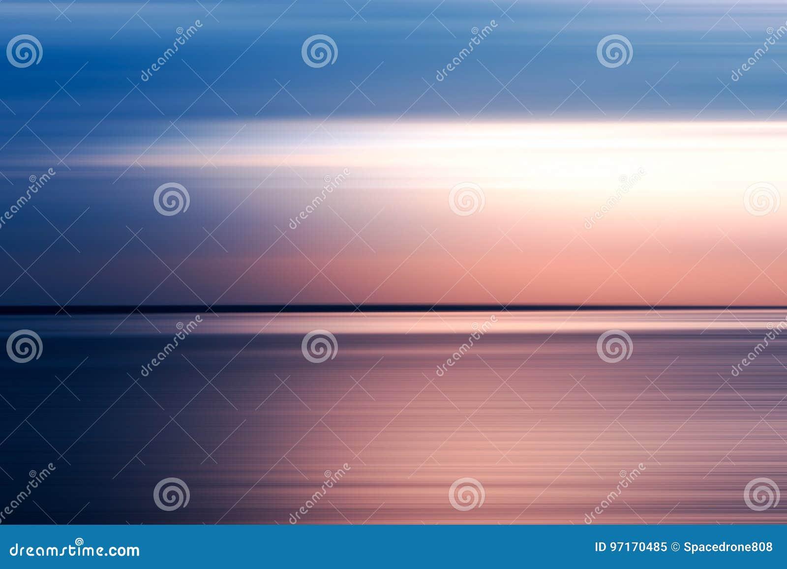 Fondo rosado y azul horizontal de falta de definición de movimiento