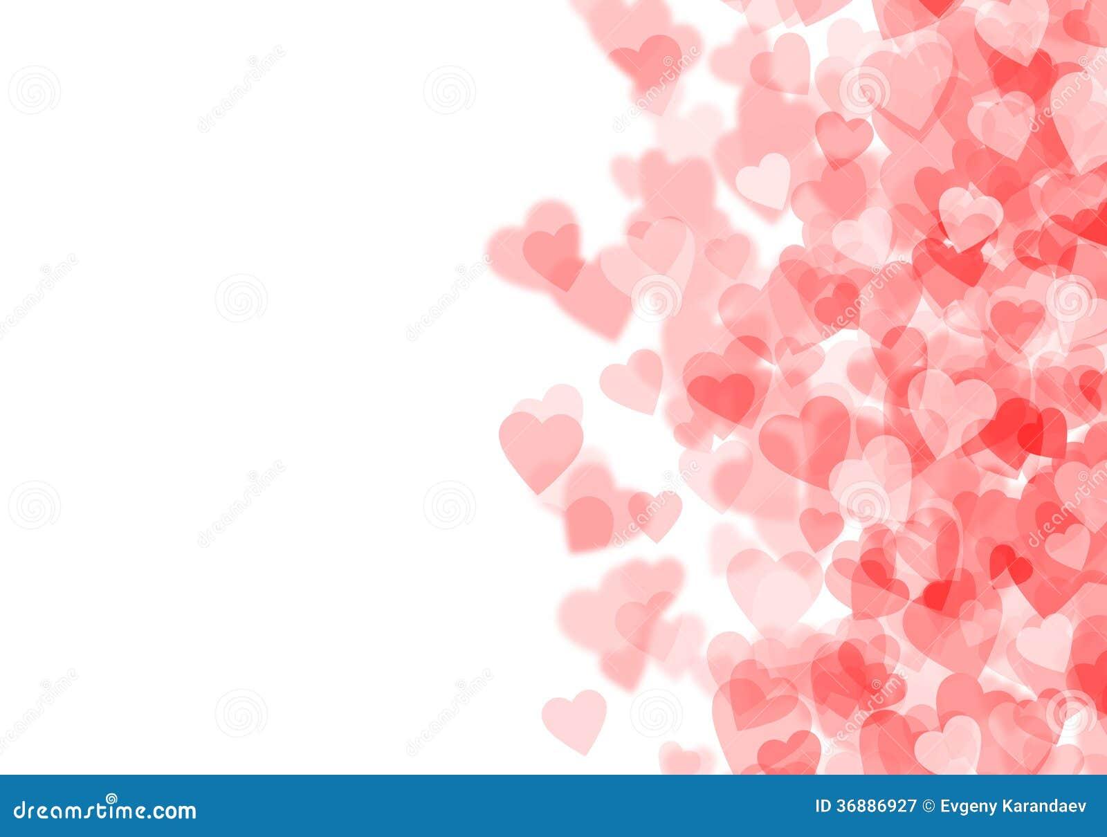 Download Fondo Rosso Dei Cuori Di San Valentino Illustrazione di Stock - Illustrazione di cuori, incandescenza: 36886927