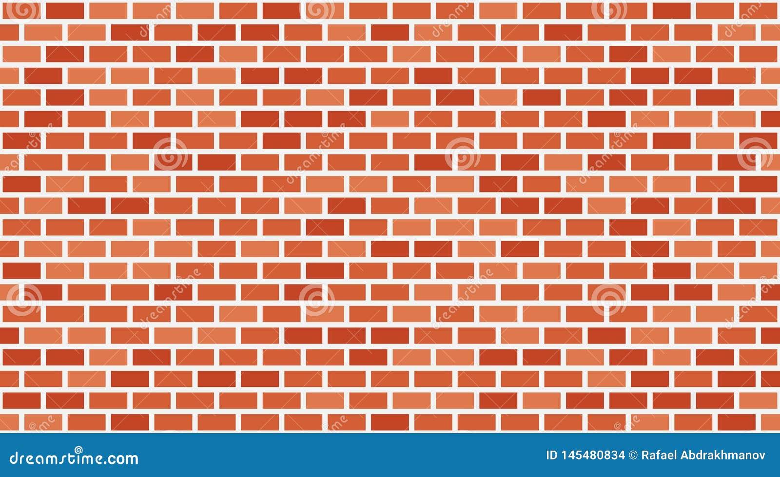 Fondo rosso del muro di mattoni di vettore Muratura urbana di vecchia struttura Carta da parati d annata del blocchetto di archit