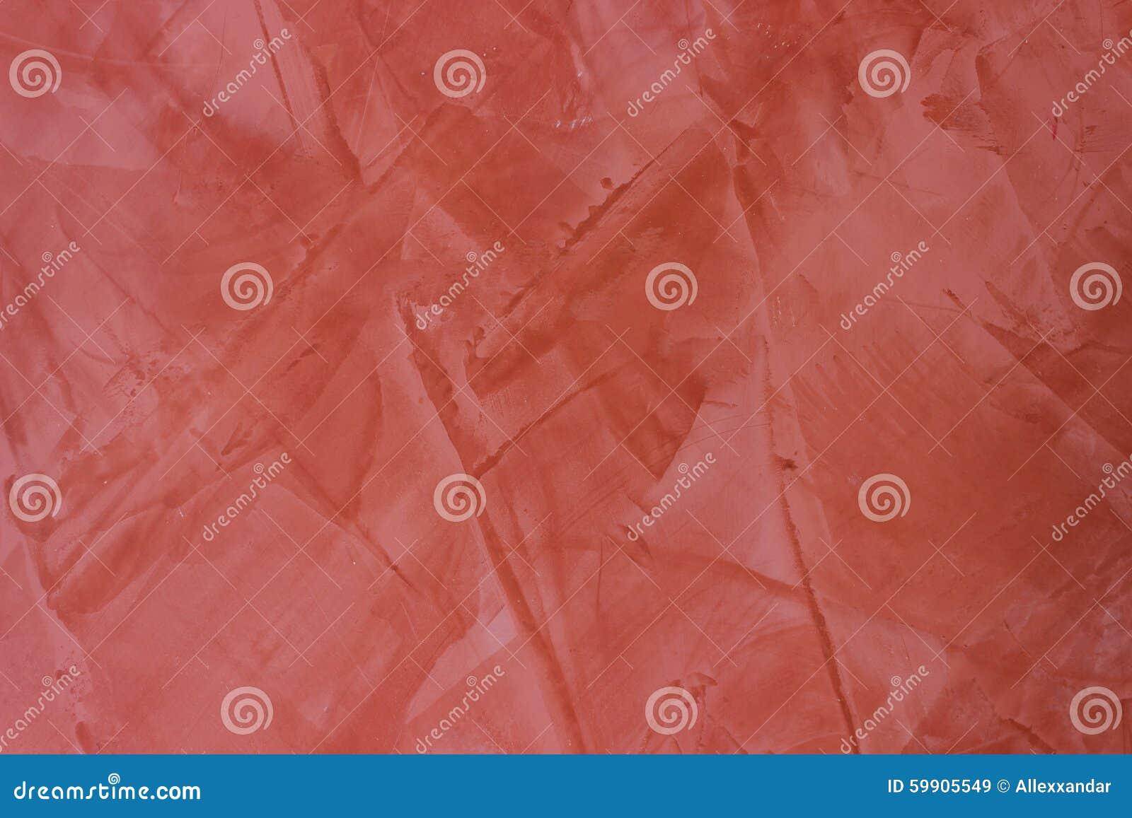 Fondo rosso della pittura dello stucco di struttura della parete