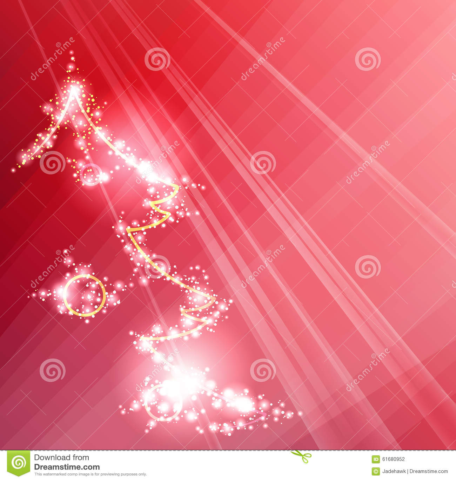 Fondo rosso scintillante con un albero di natale for Albero natale stilizzato