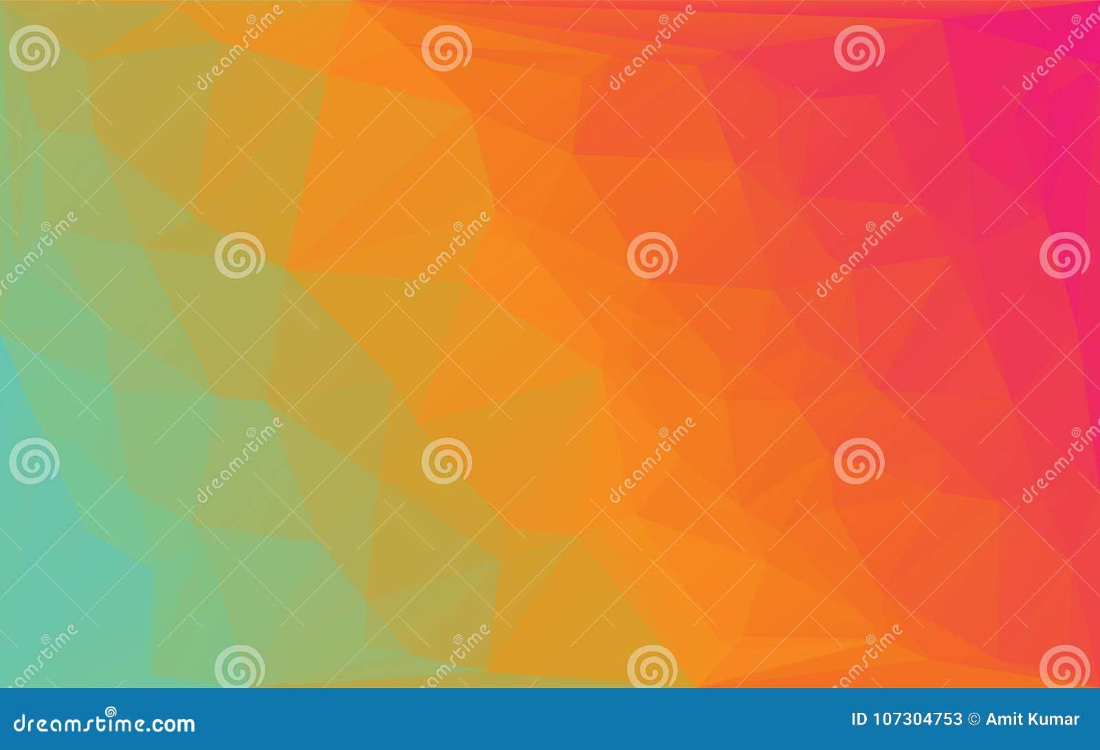 Fondo rotondo giallo arancione di vettore astratto del mosaico del poligono