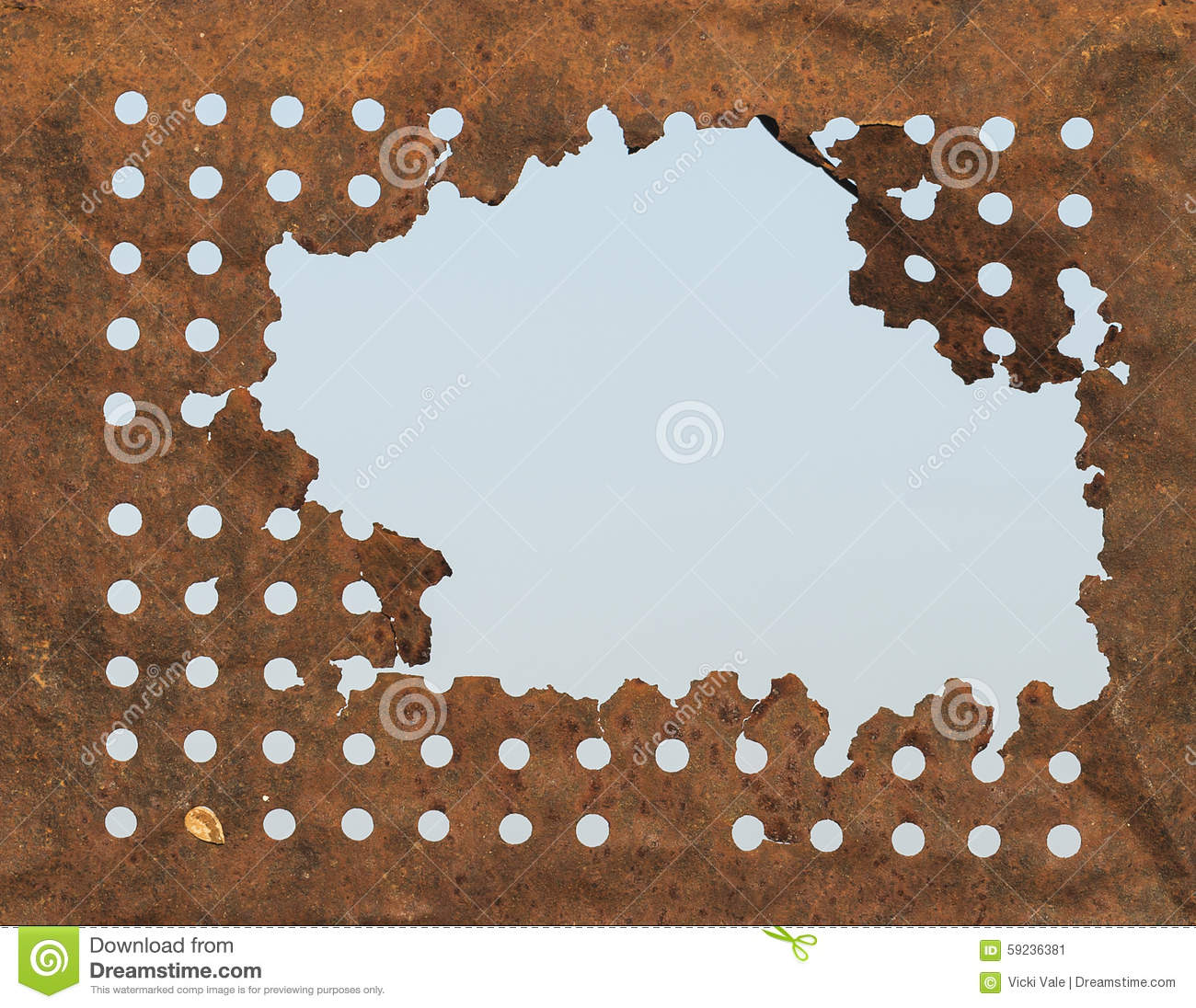 Fondo Rusty Tin Holes