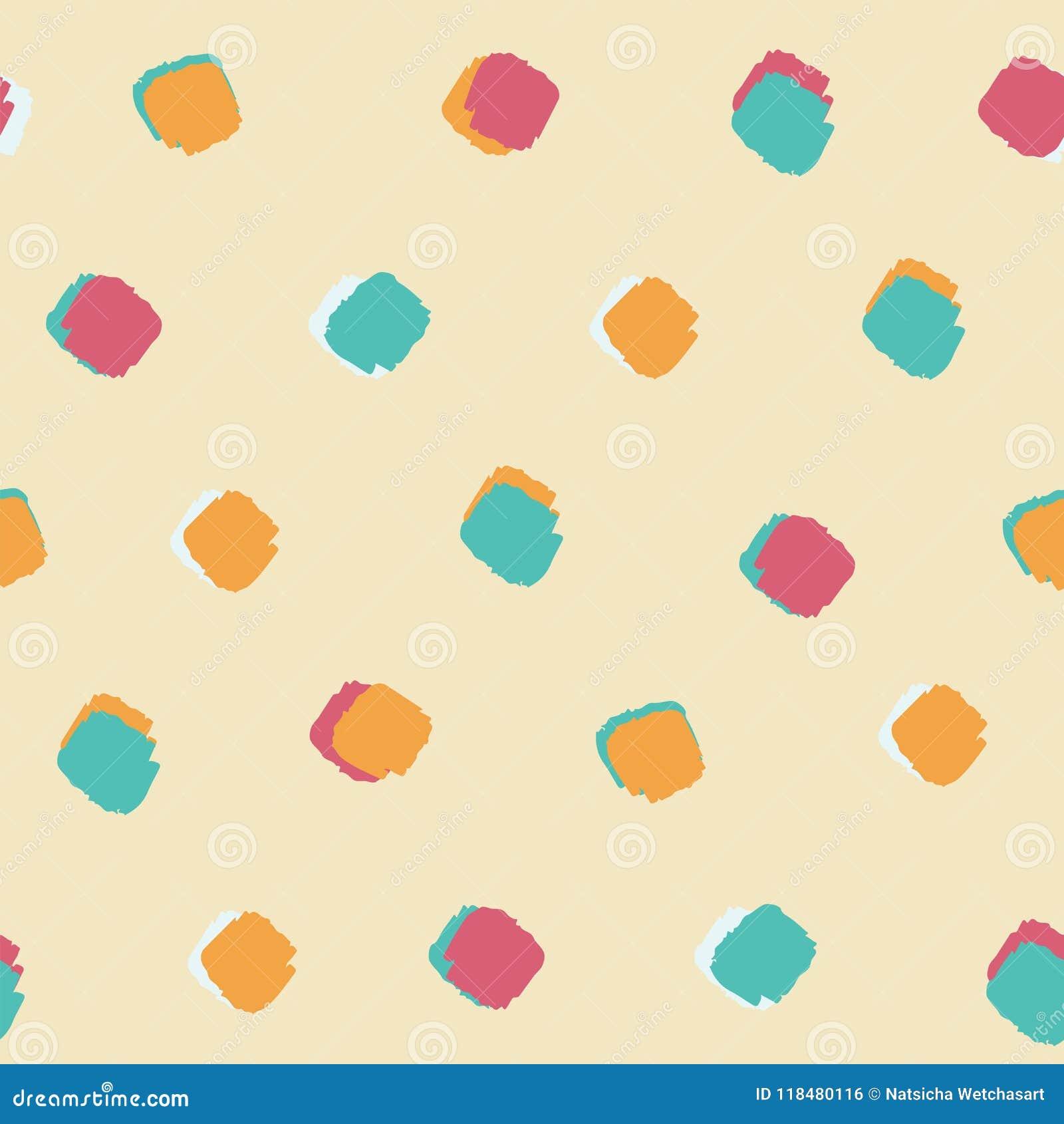 Fondo senza cuciture colourful luminoso del modello di punto del quadrato della spazzola dell inchiostro di estate