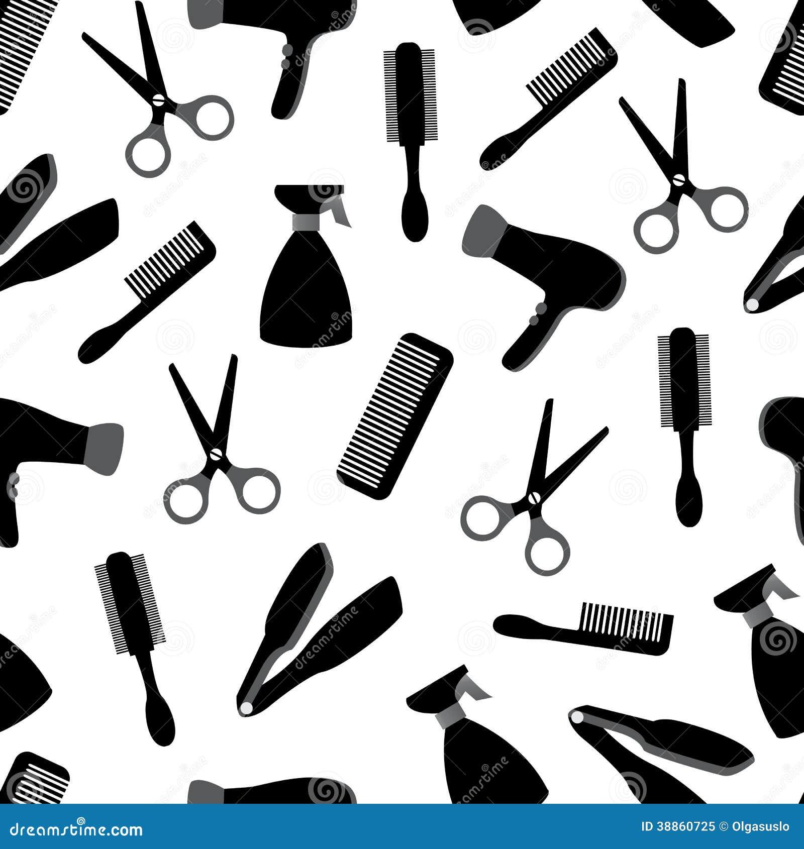 Fondo senza cuciture con l 39 attrezzatura del barbiere for Simbolo barbiere