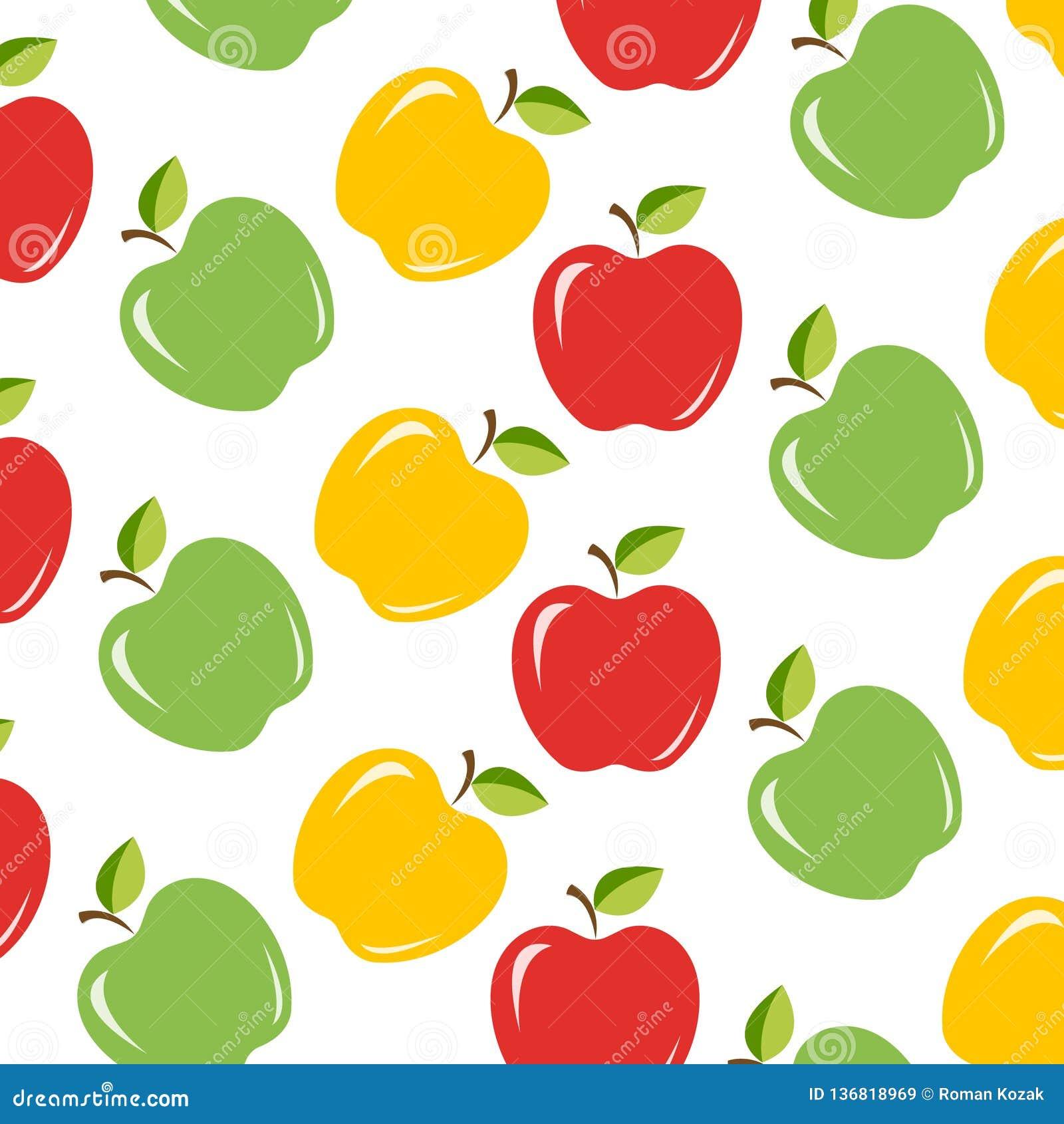 Fondo senza cuciture con le mele succose