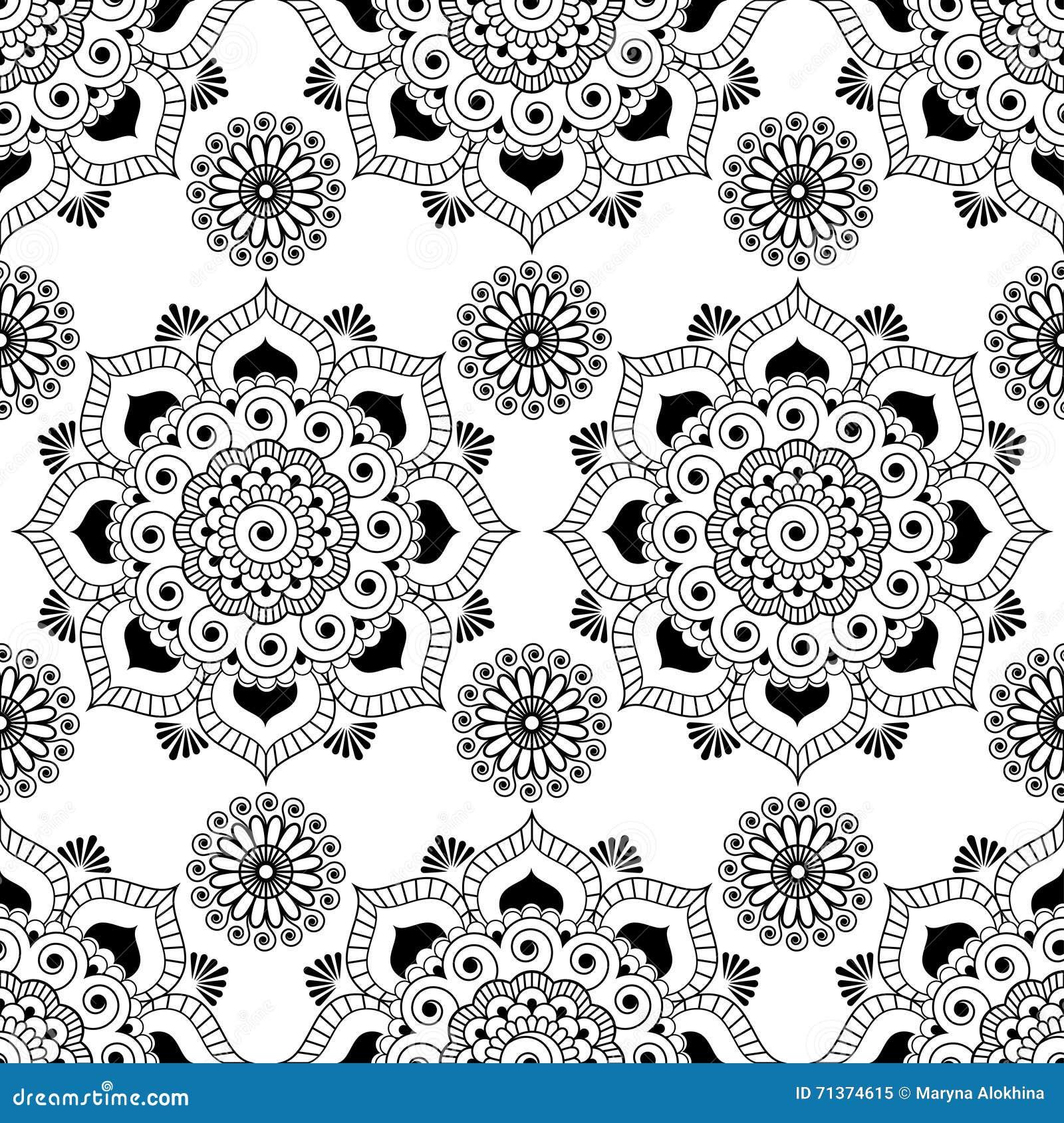 133bdbfc50 Fondo senza cuciture del modello con gli elementi in bianco e nero della  decorazione di buta