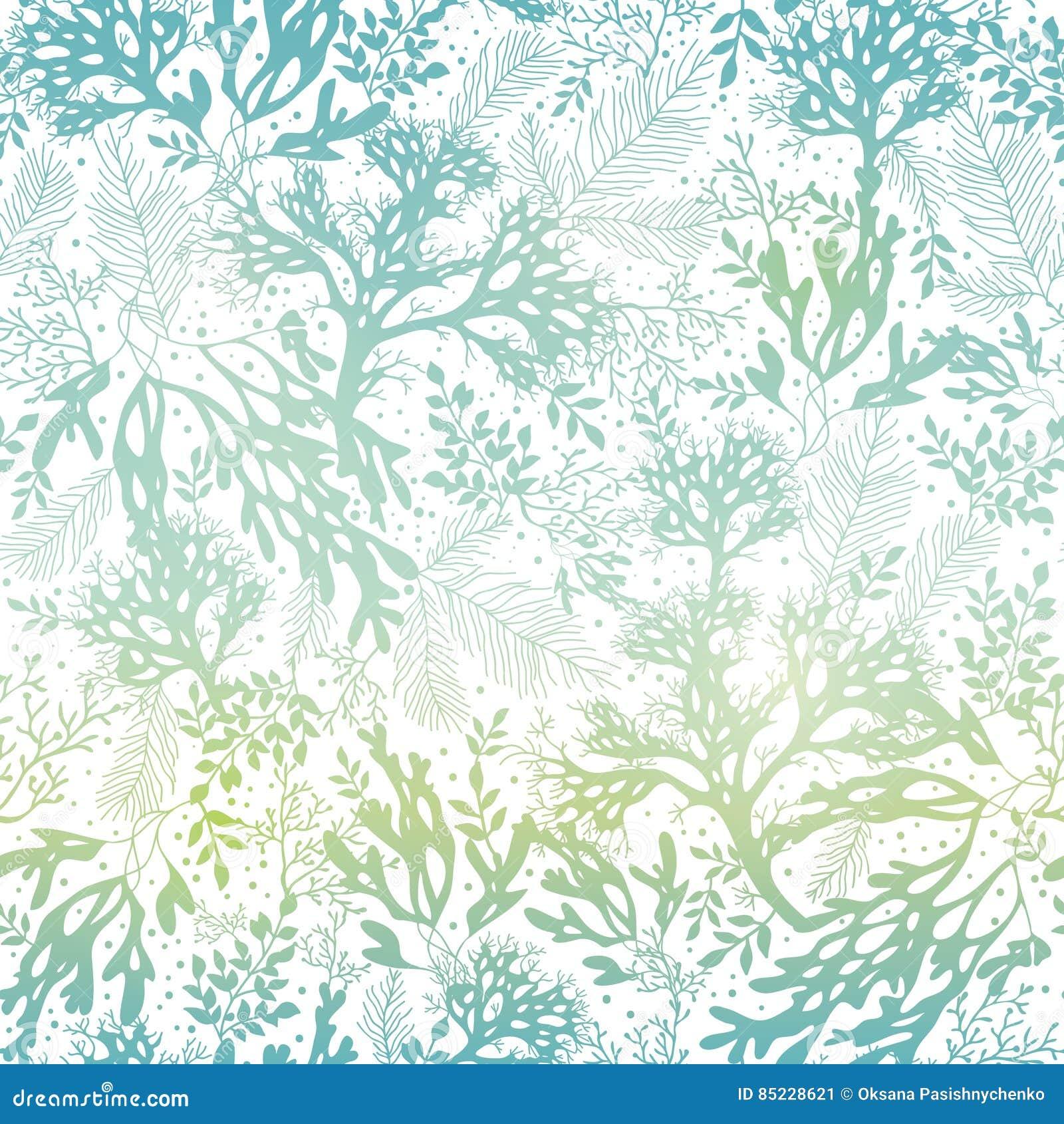 Fondo senza cuciture del modello di Freen di vettore di struttura blu dell alga Grande per tessuto grigio elegante, carte, inviti
