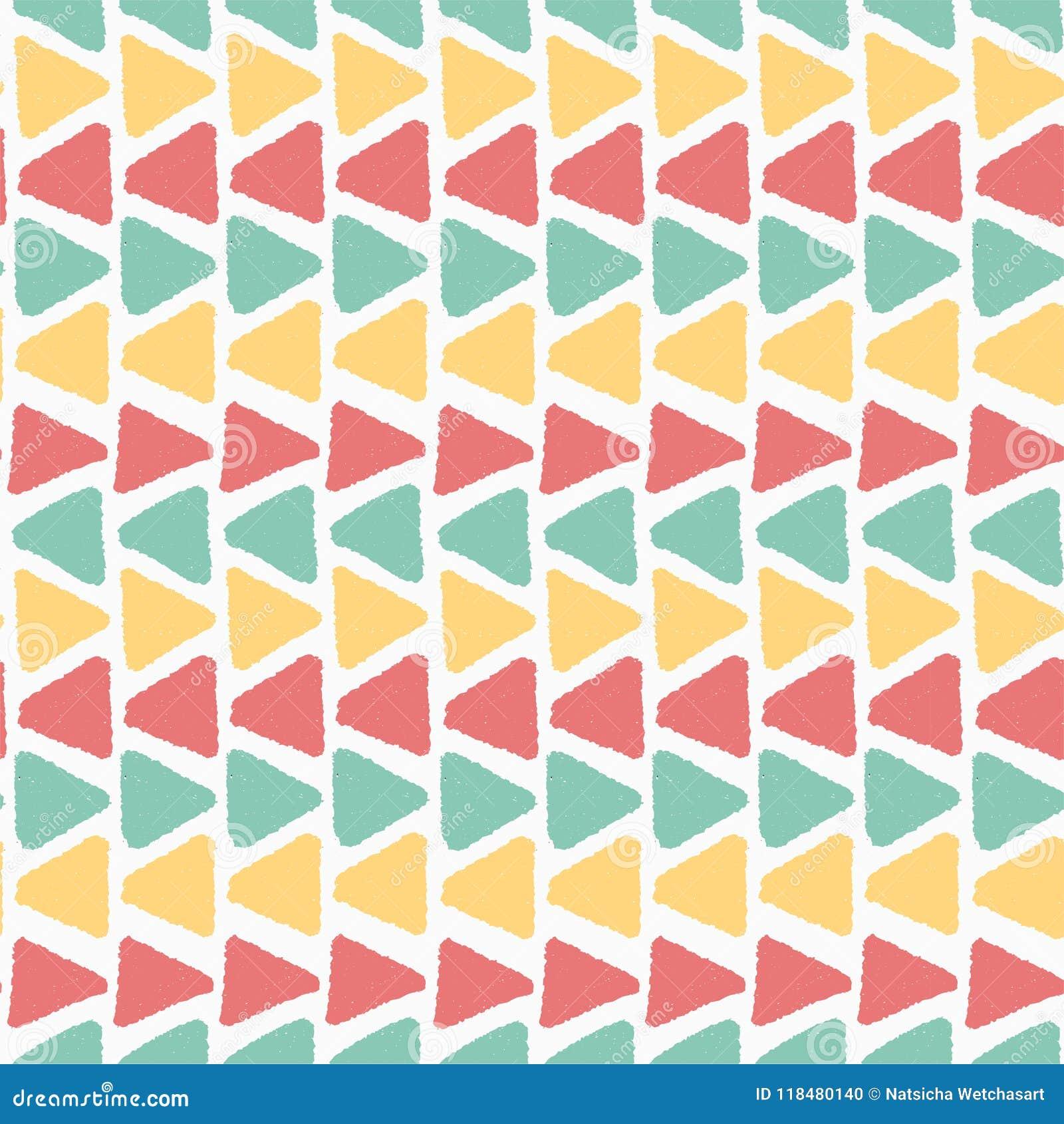 Fondo senza cuciture di estate di orizzonte di lerciume del modello geometrico d annata colourful del triangolo