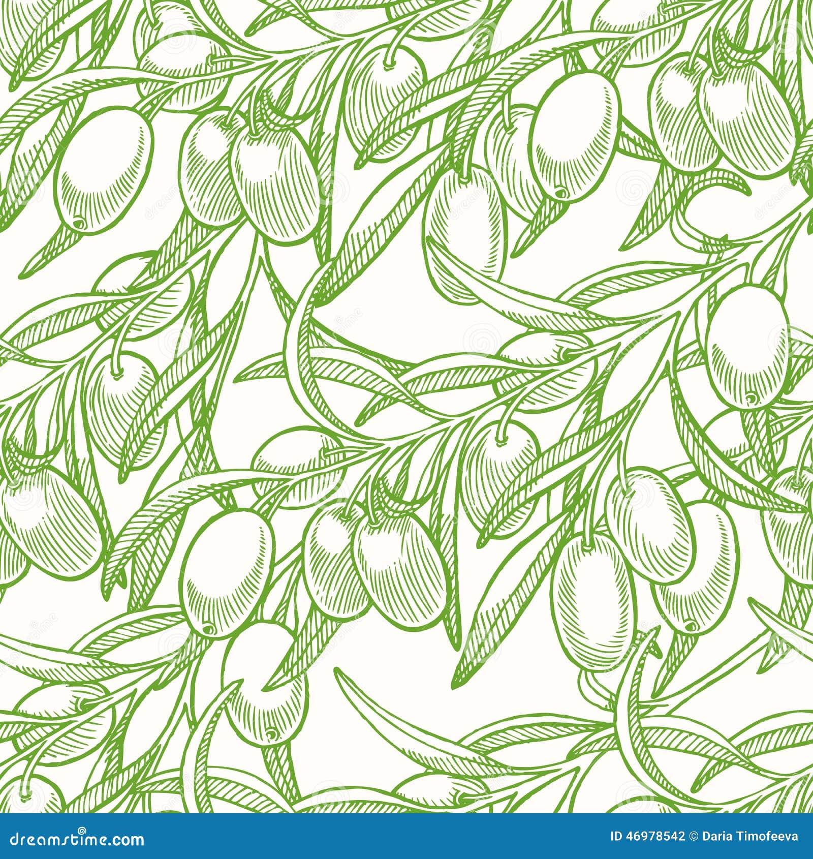 Fondo senza cuciture verde con le olive
